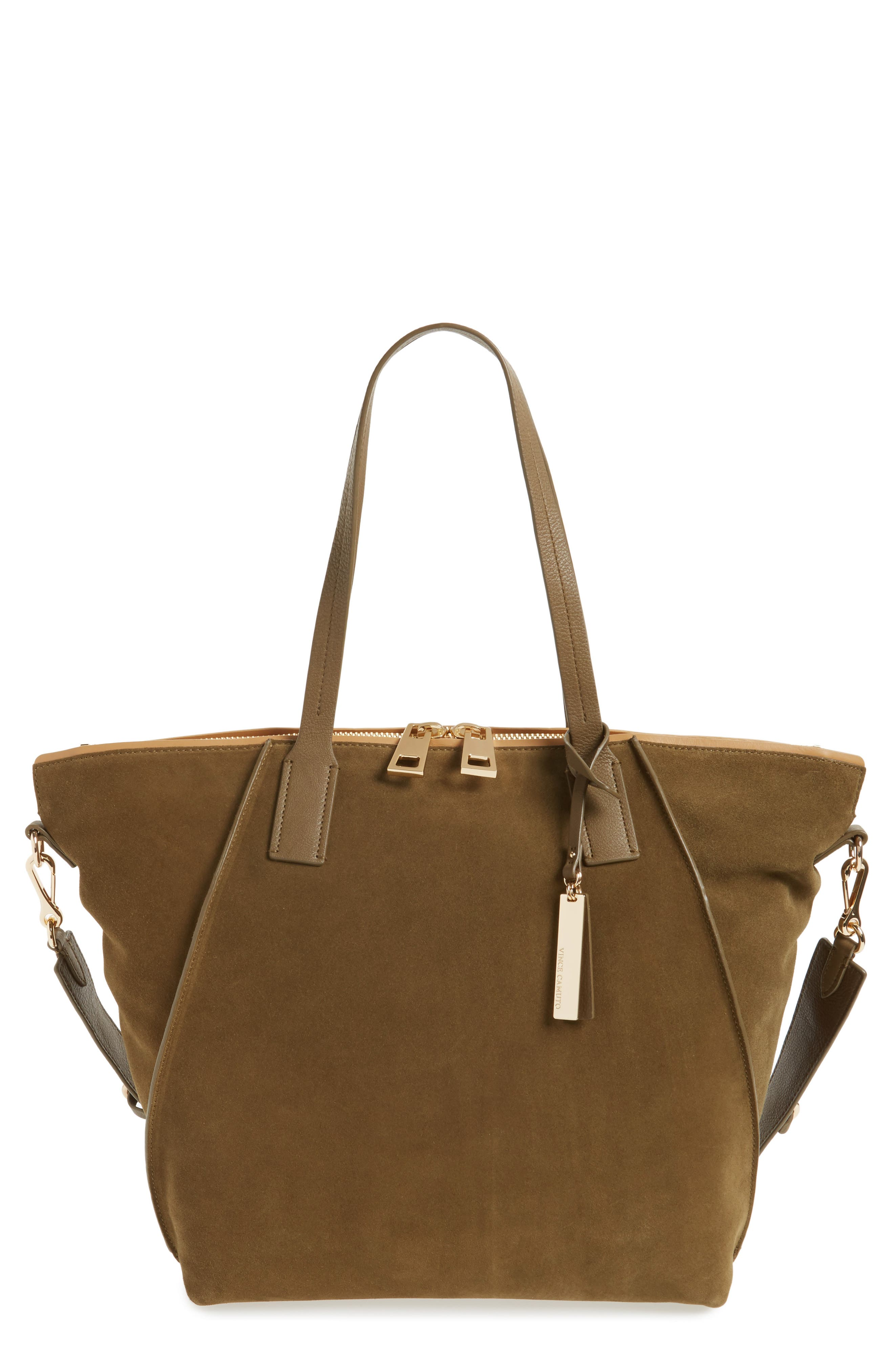 Alternate Image 1 Selected - Vince Camuto Alicia Suede & Leather Tote