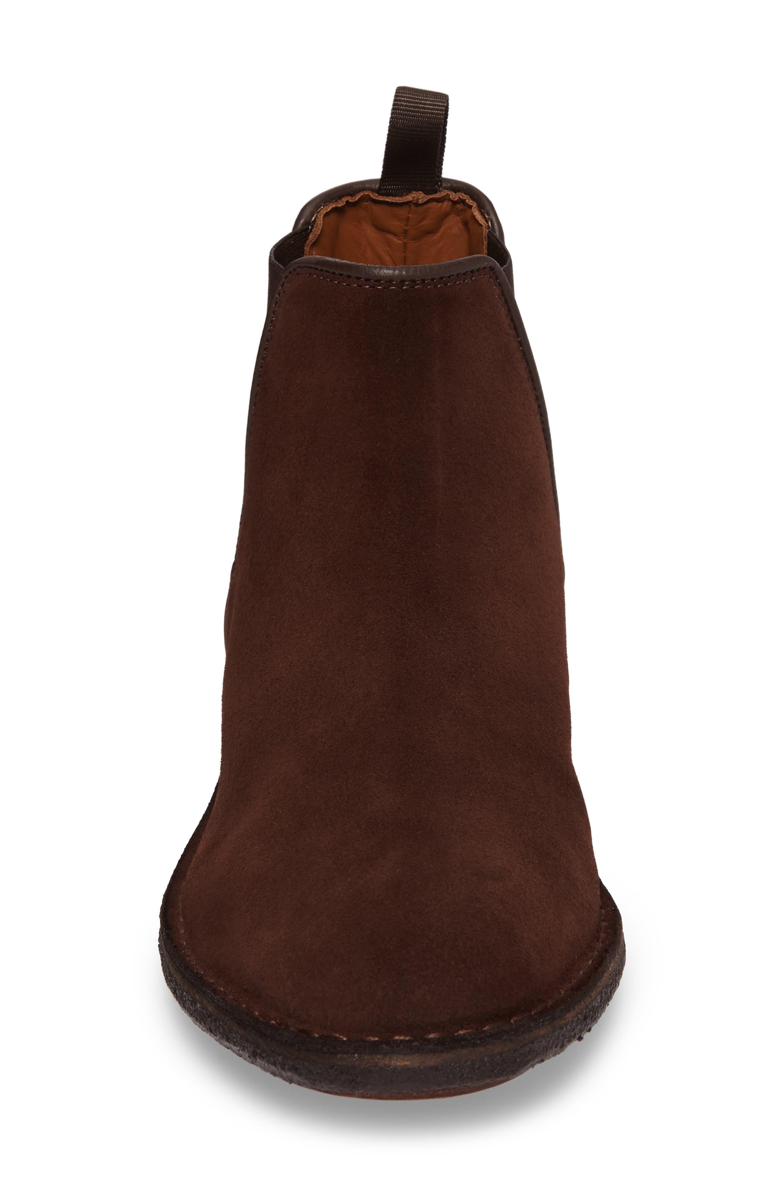 Oscar Chelsea Boot,                             Alternate thumbnail 4, color,                             Medium Brown