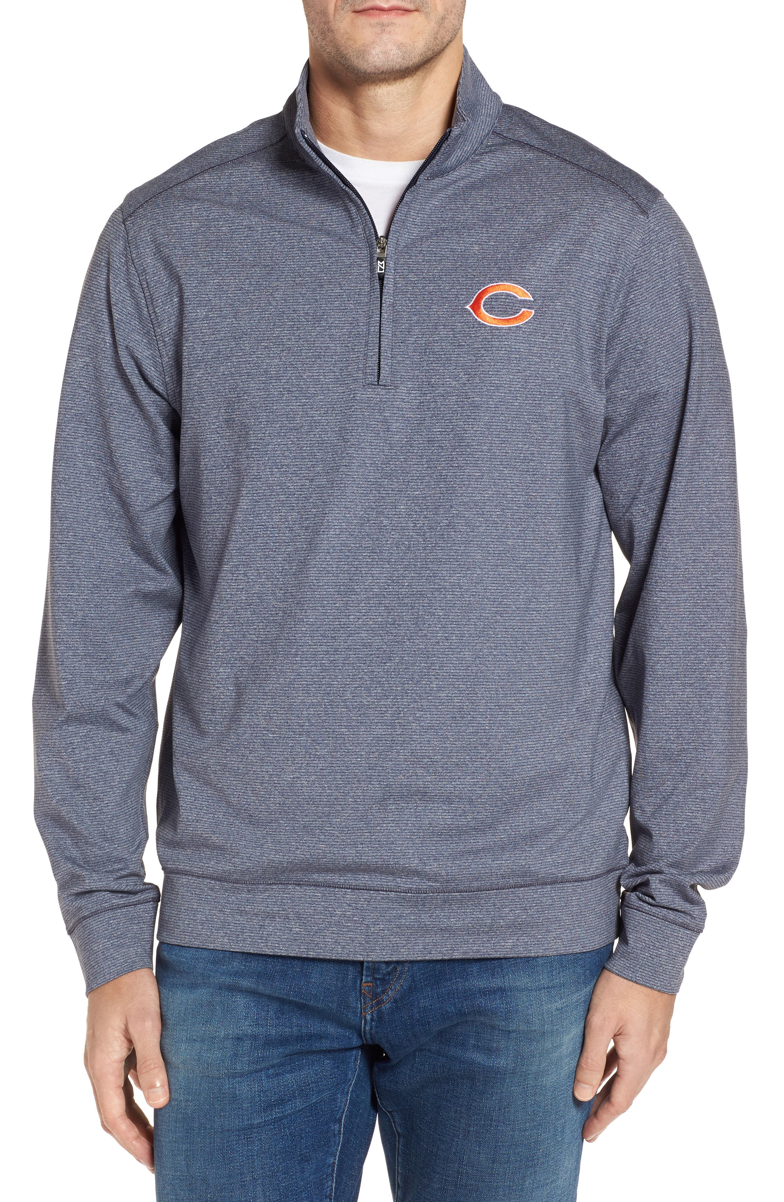 Main Image - Cutter & Buck Shoreline - Chicago Bears Half Zip Pullover