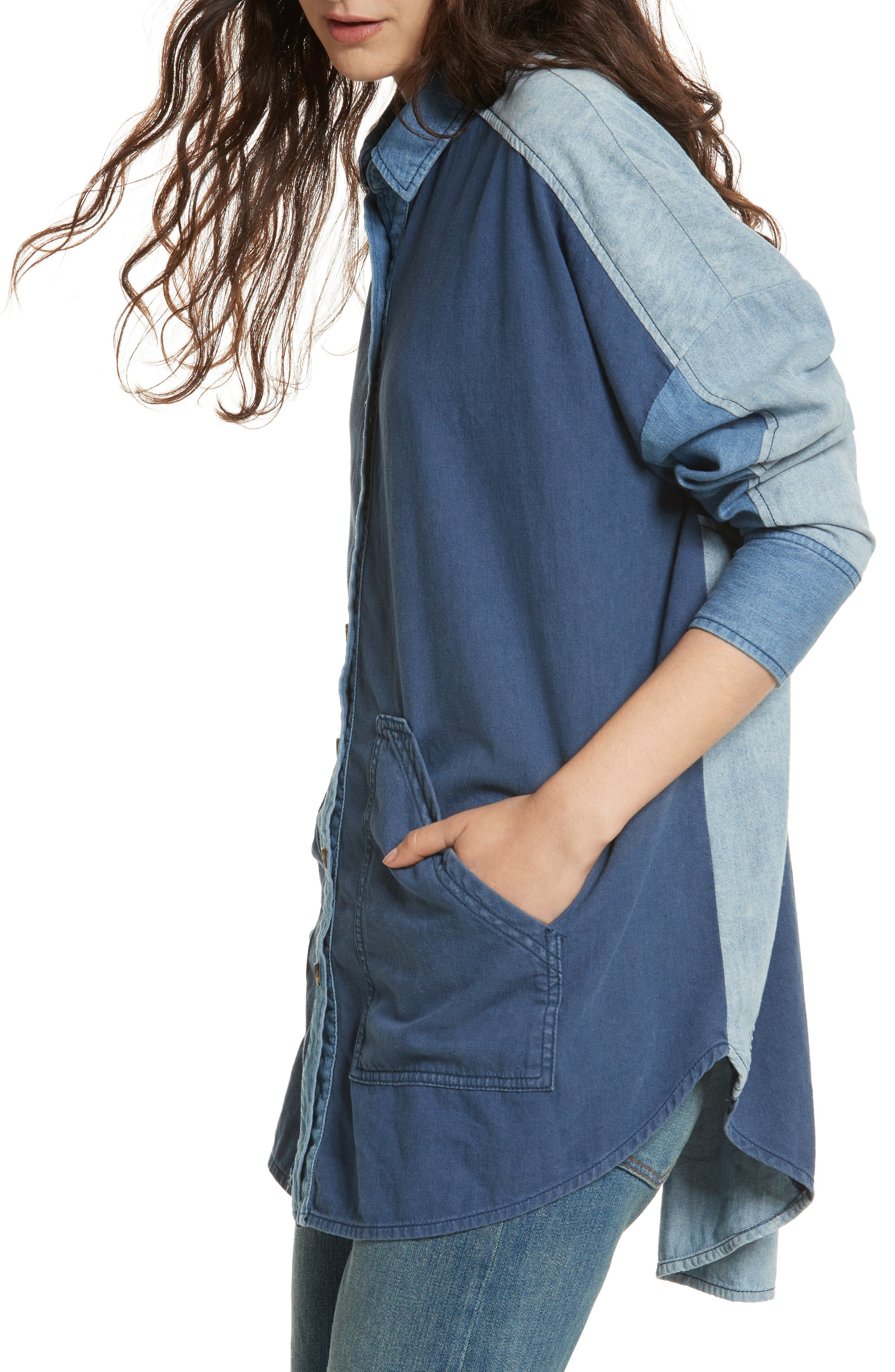 Alternate Image 1 Selected - Free People Superstar Chambray Shirt