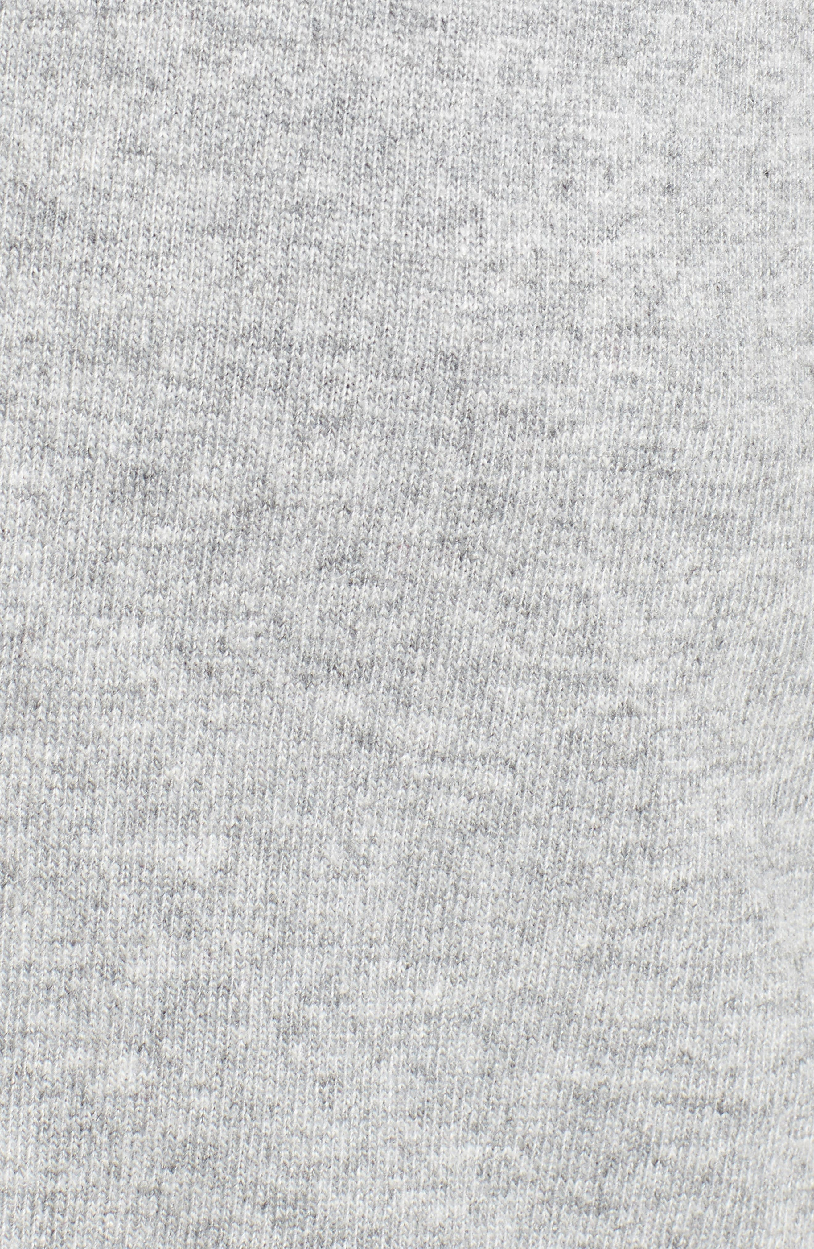 Ruffle Sleeve Longline Cardigan,                             Alternate thumbnail 5, color,                             Grey