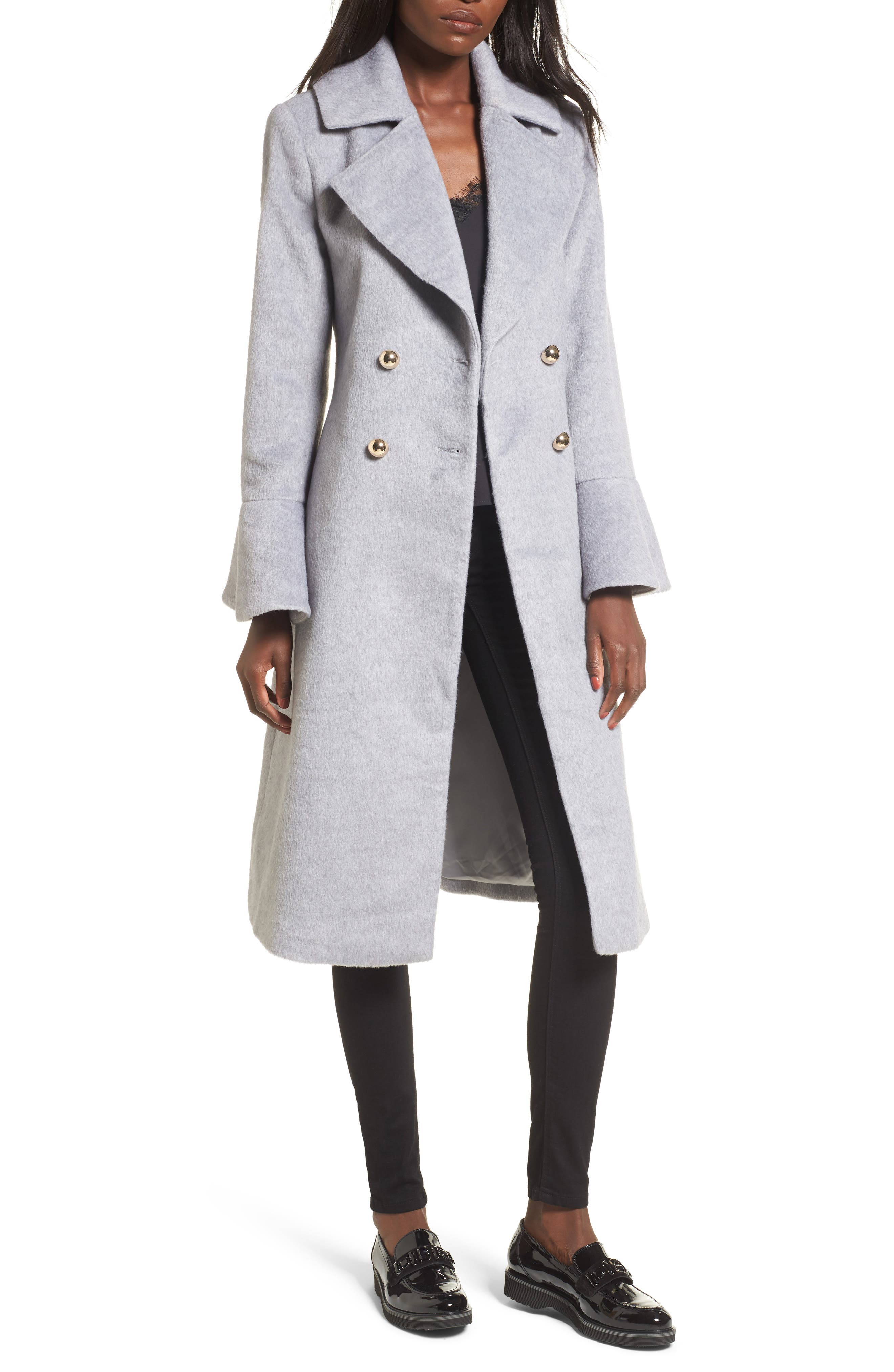 Intuition Water Repellent Coat,                         Main,                         color, Grey