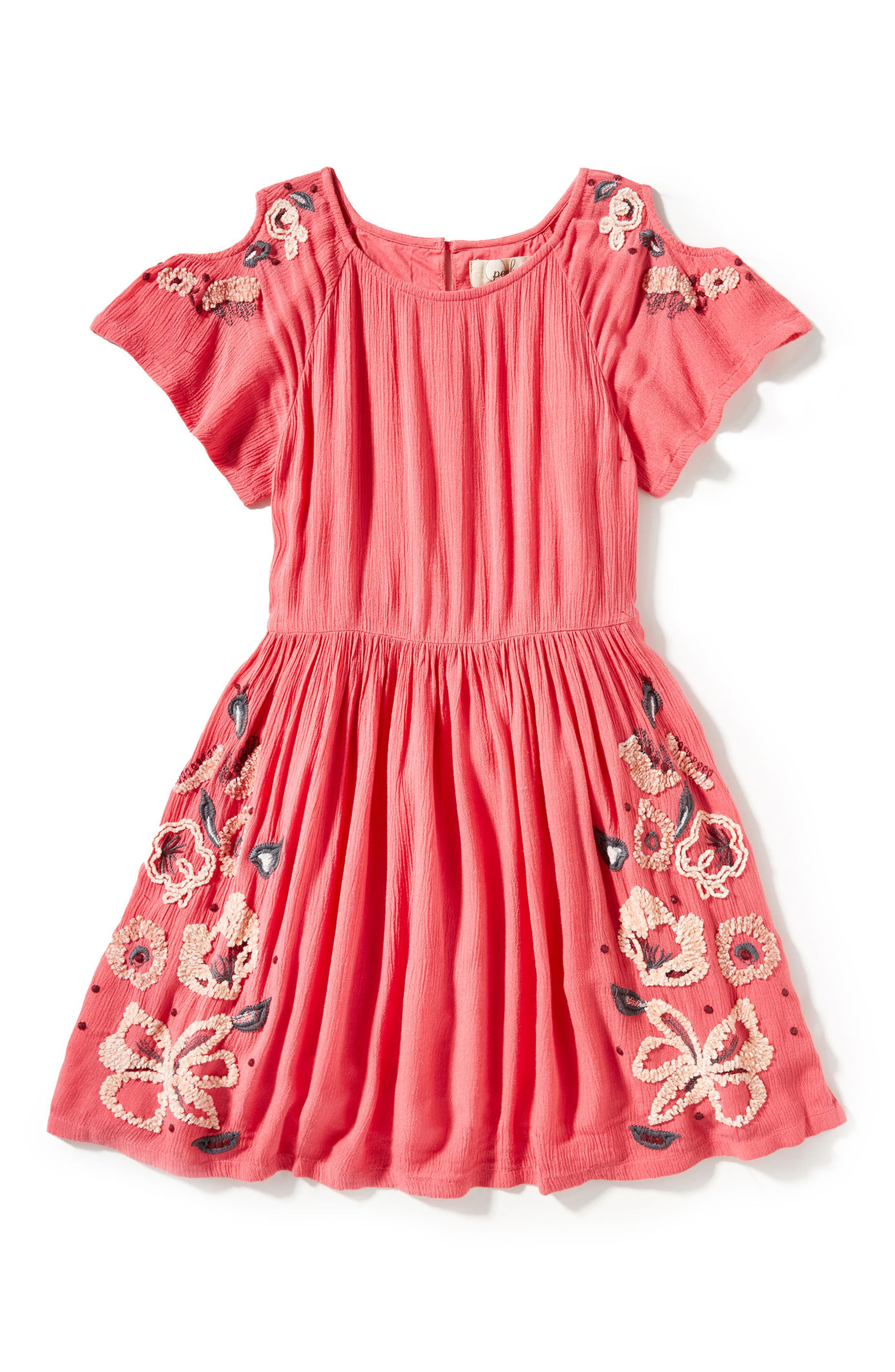 Peek Eva Embroidered Dress (Toddler Girls, Little Girls & Big Girls)
