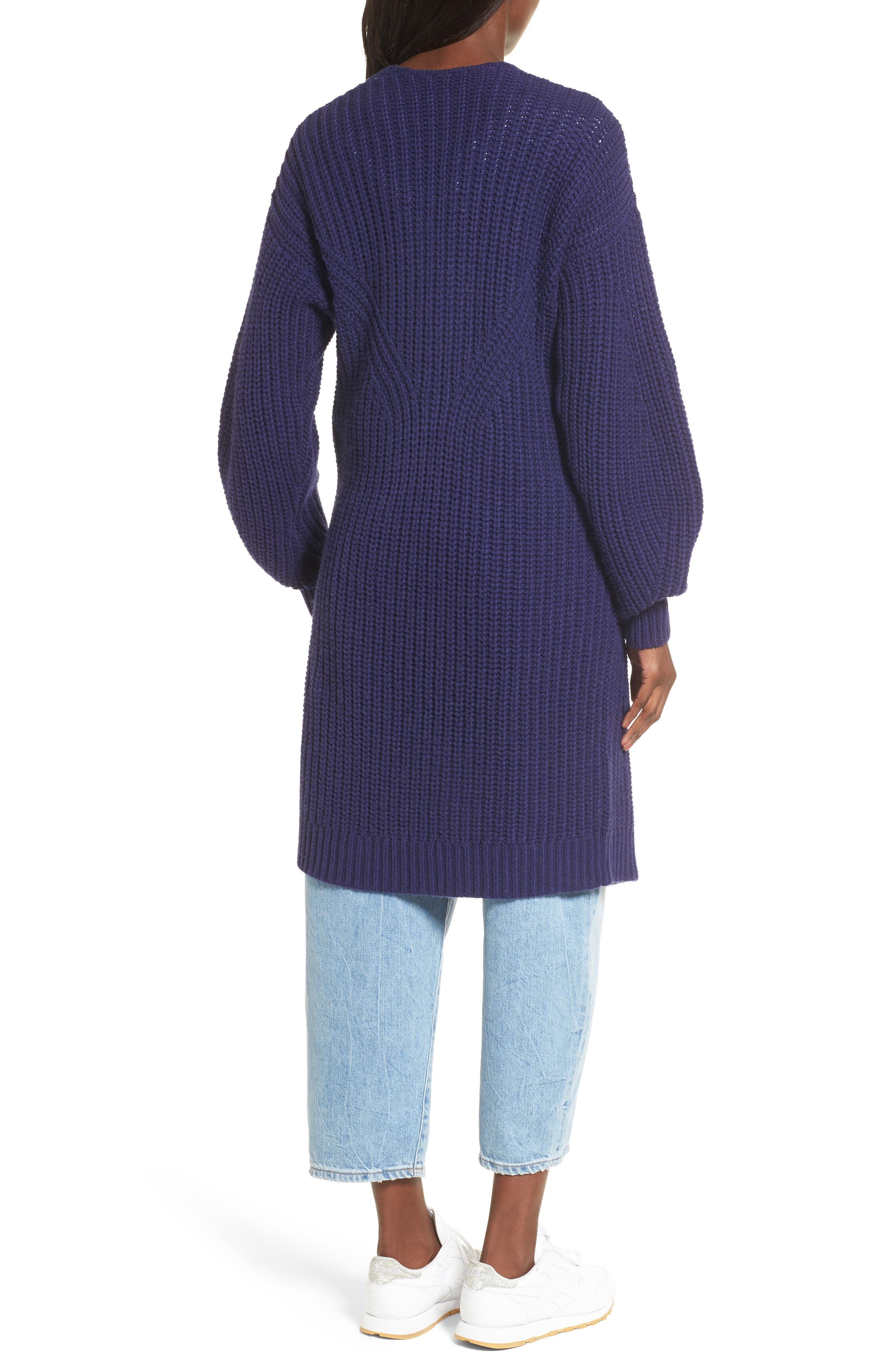 Alternate Image 2  - BP. Shaped Sleeve Longline Cardigan