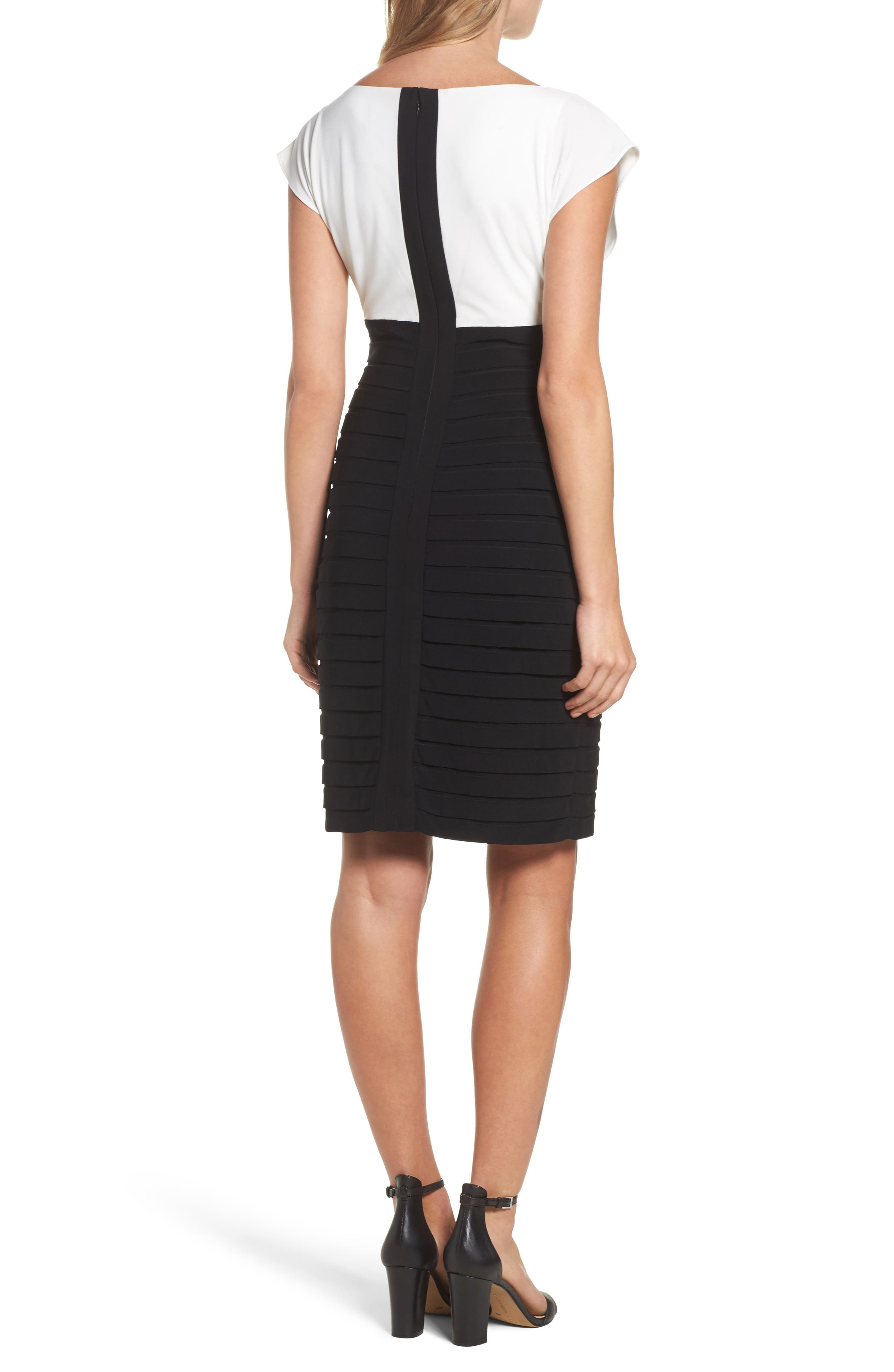 Alternate Image 2  - Adrianna Papell Shutter Pleated Sheath Dress