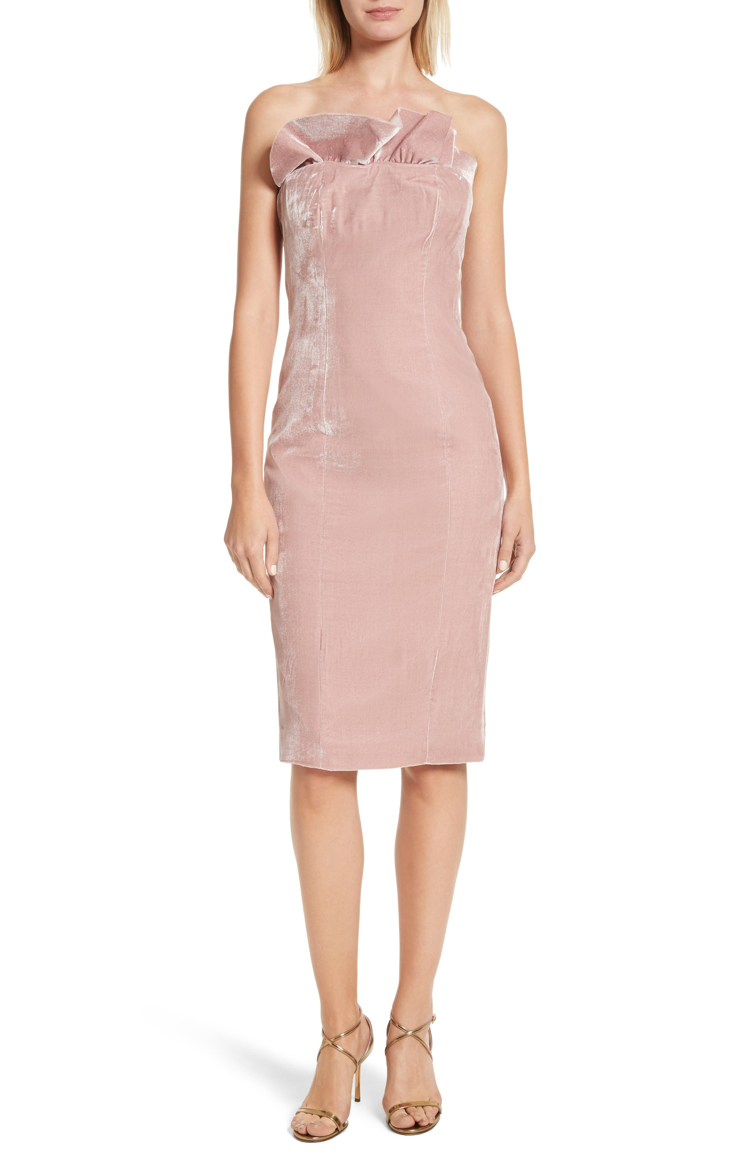 Marceau Velvet Dress,                         Main,                         color, Mauve