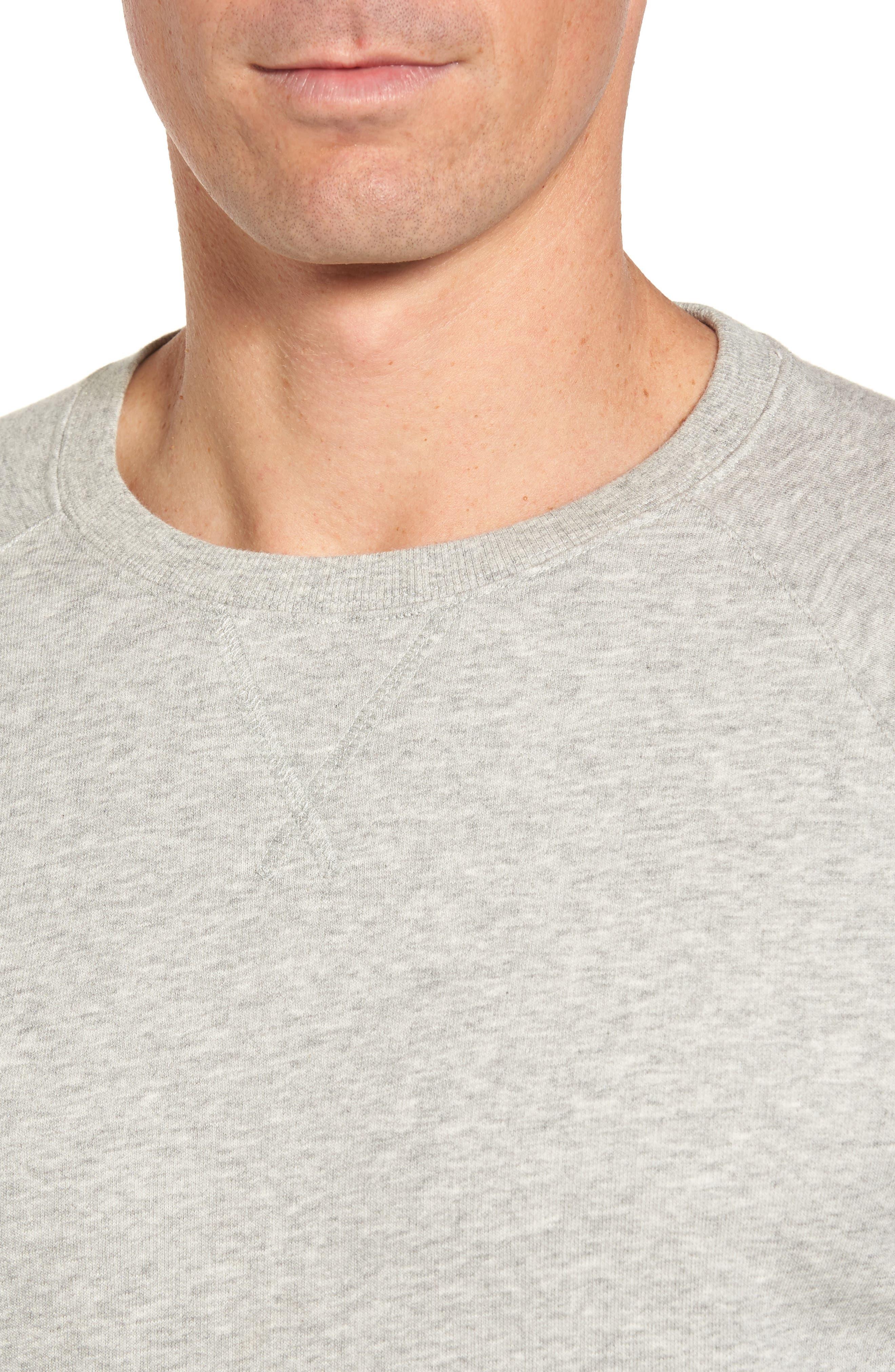 Lounge Crewneck Sweatshirt,                             Alternate thumbnail 4, color,                             Grey Heather