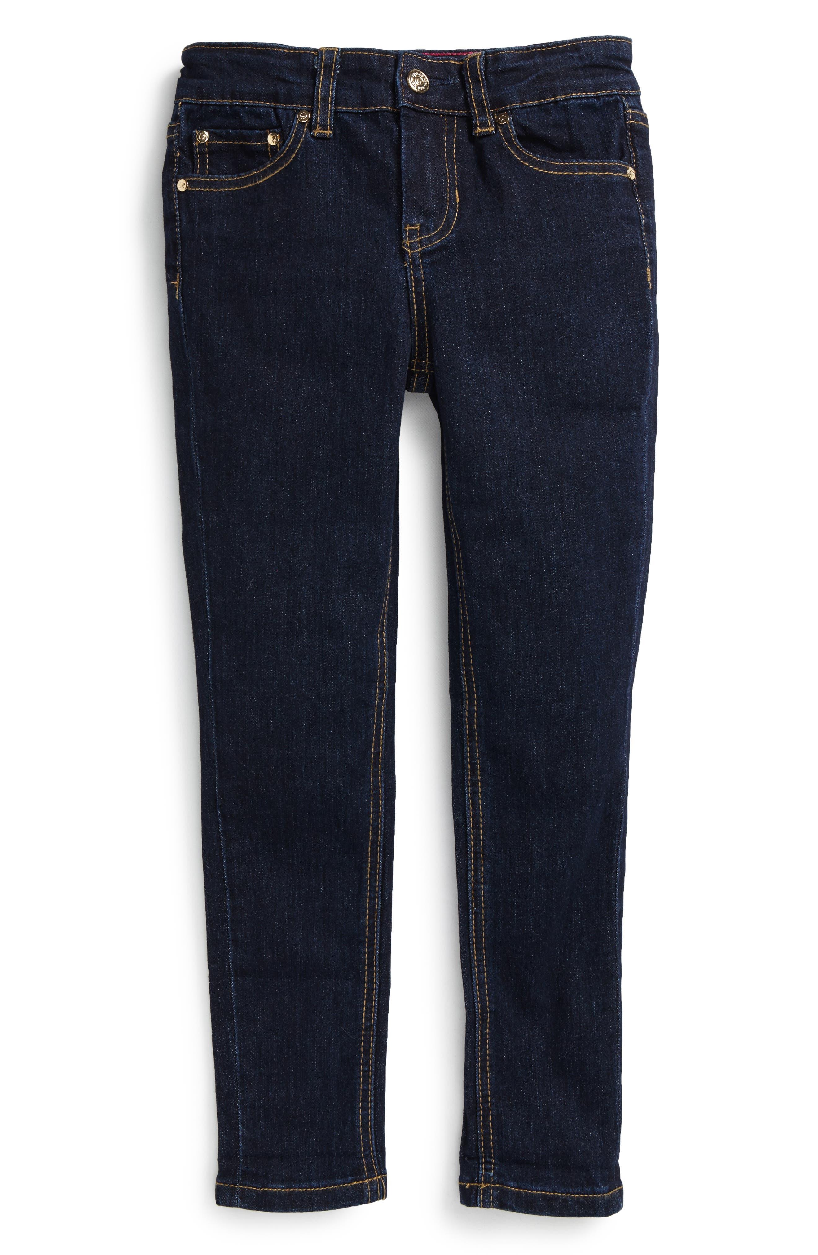 Alternate Image 1 Selected - kate spade new york skinny stretch jeans (Toddler Girls & Little Girls)