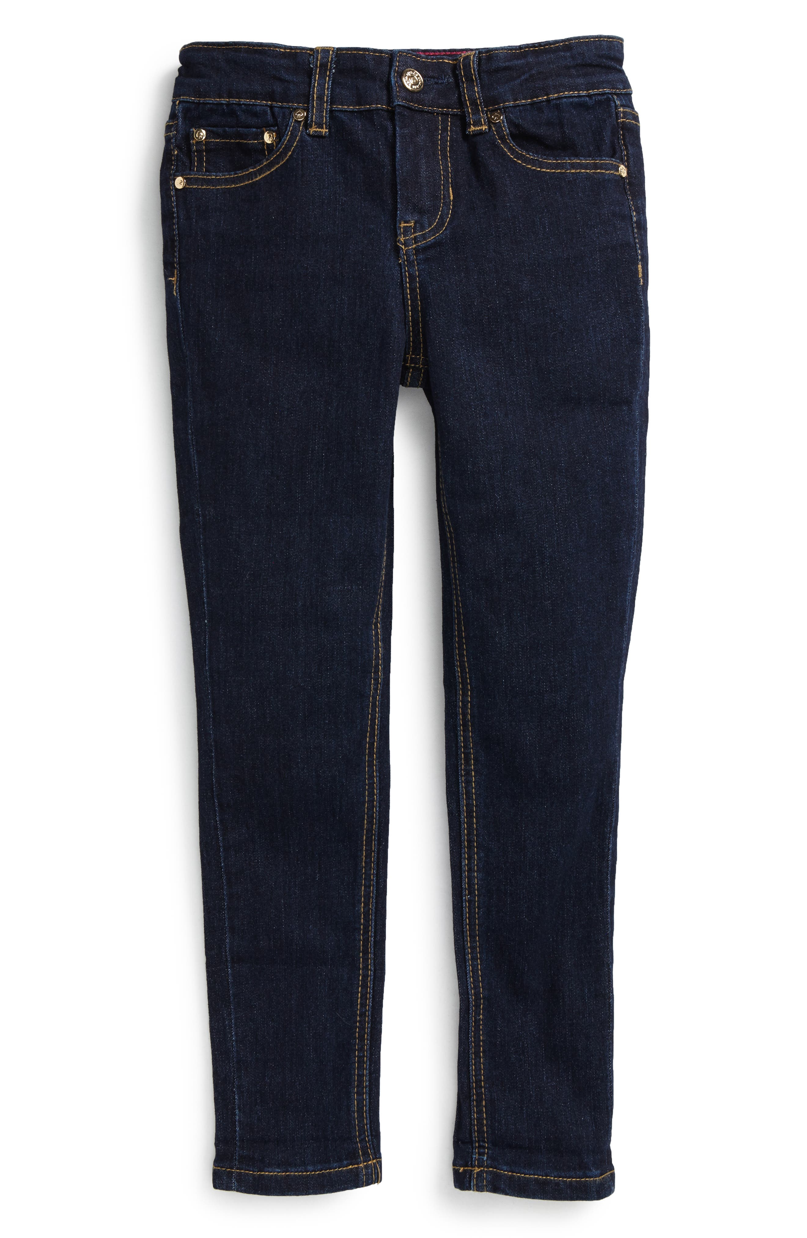 Main Image - kate spade new york skinny stretch jeans (Toddler Girls & Little Girls)
