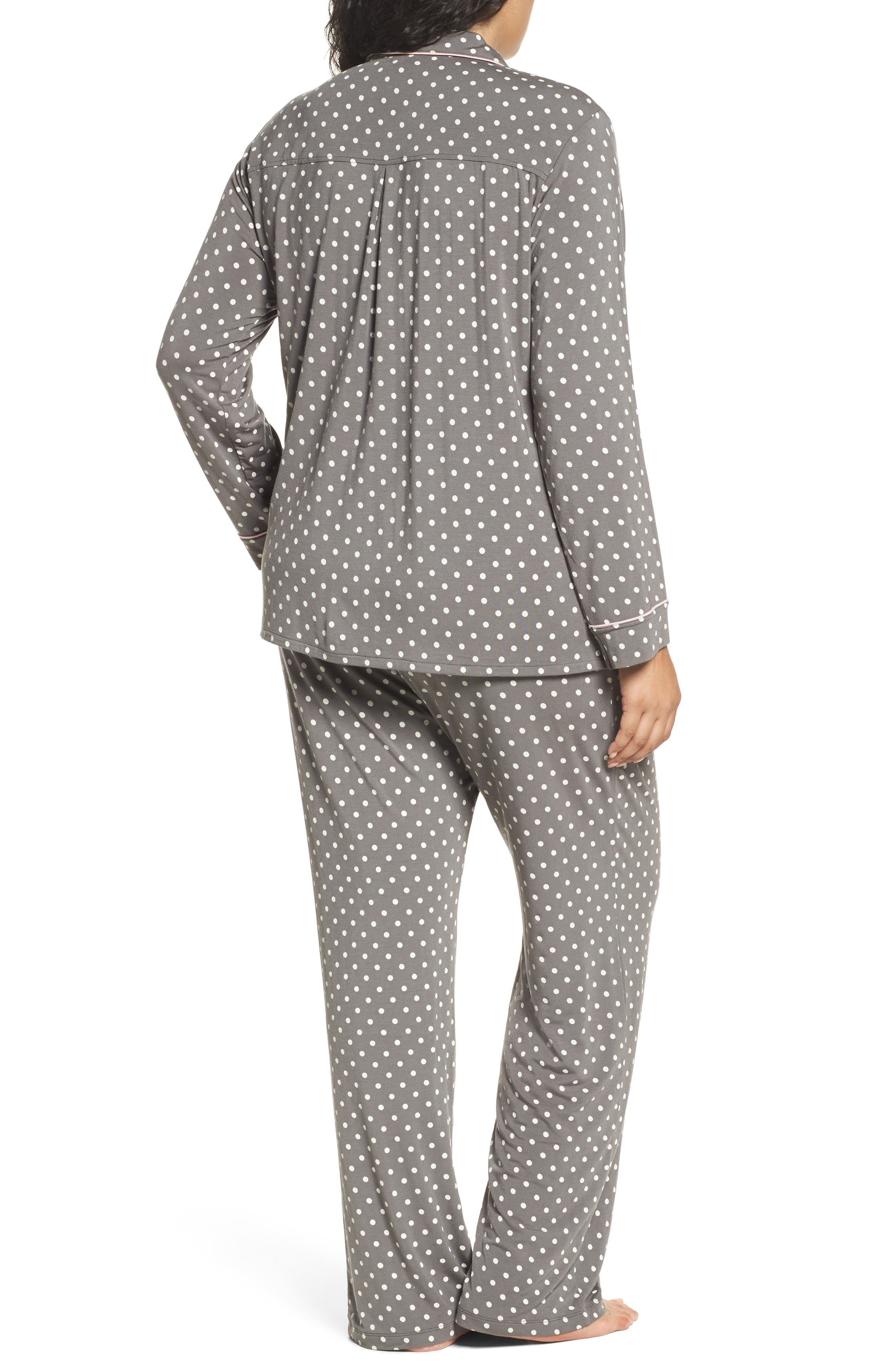 Polka Dot Pajamas,                             Alternate thumbnail 2, color,                             Charcoal