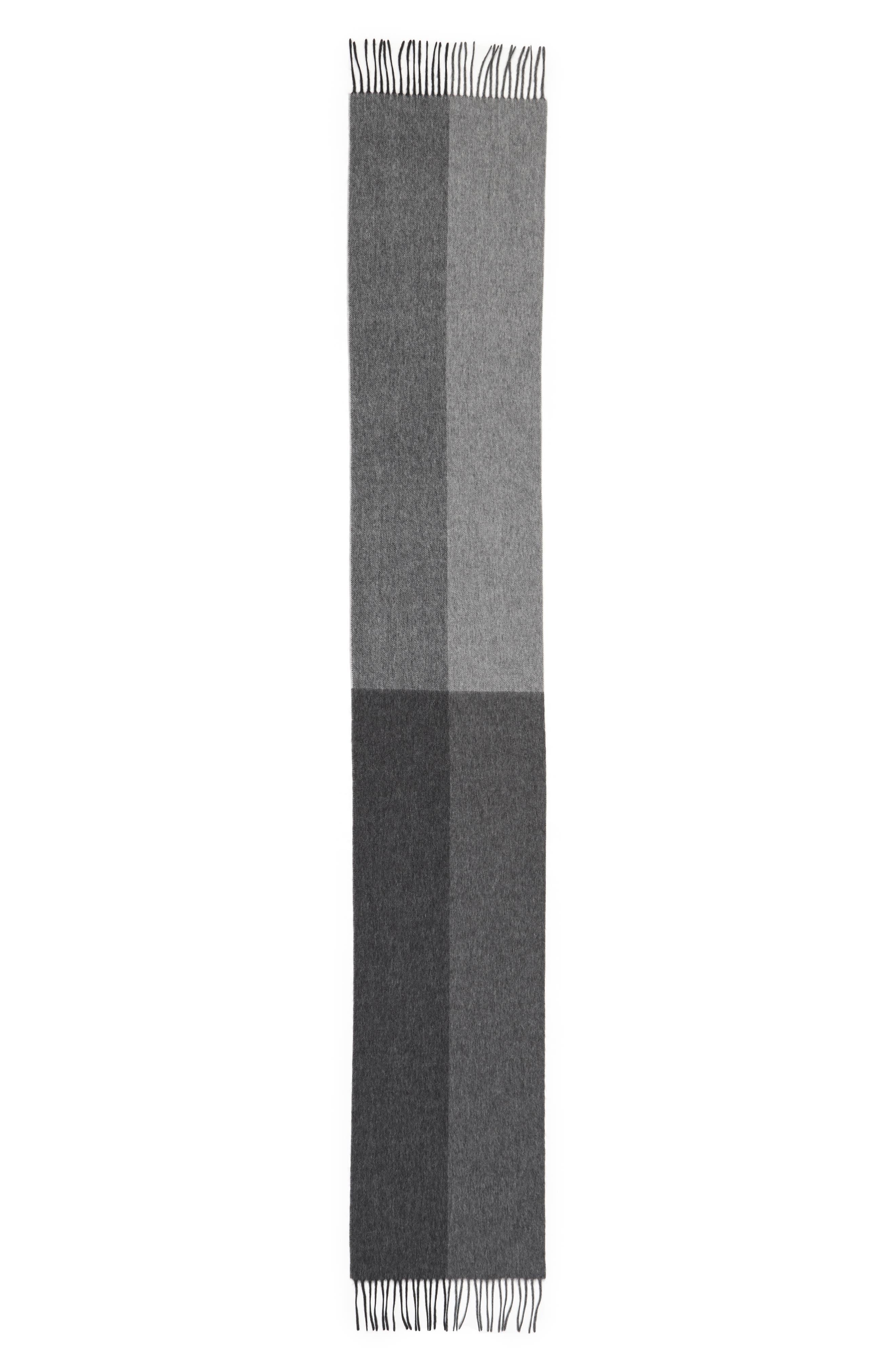 Alternate Image 2  - Nordstrom Men's Shop Colorblock Wool Scarf