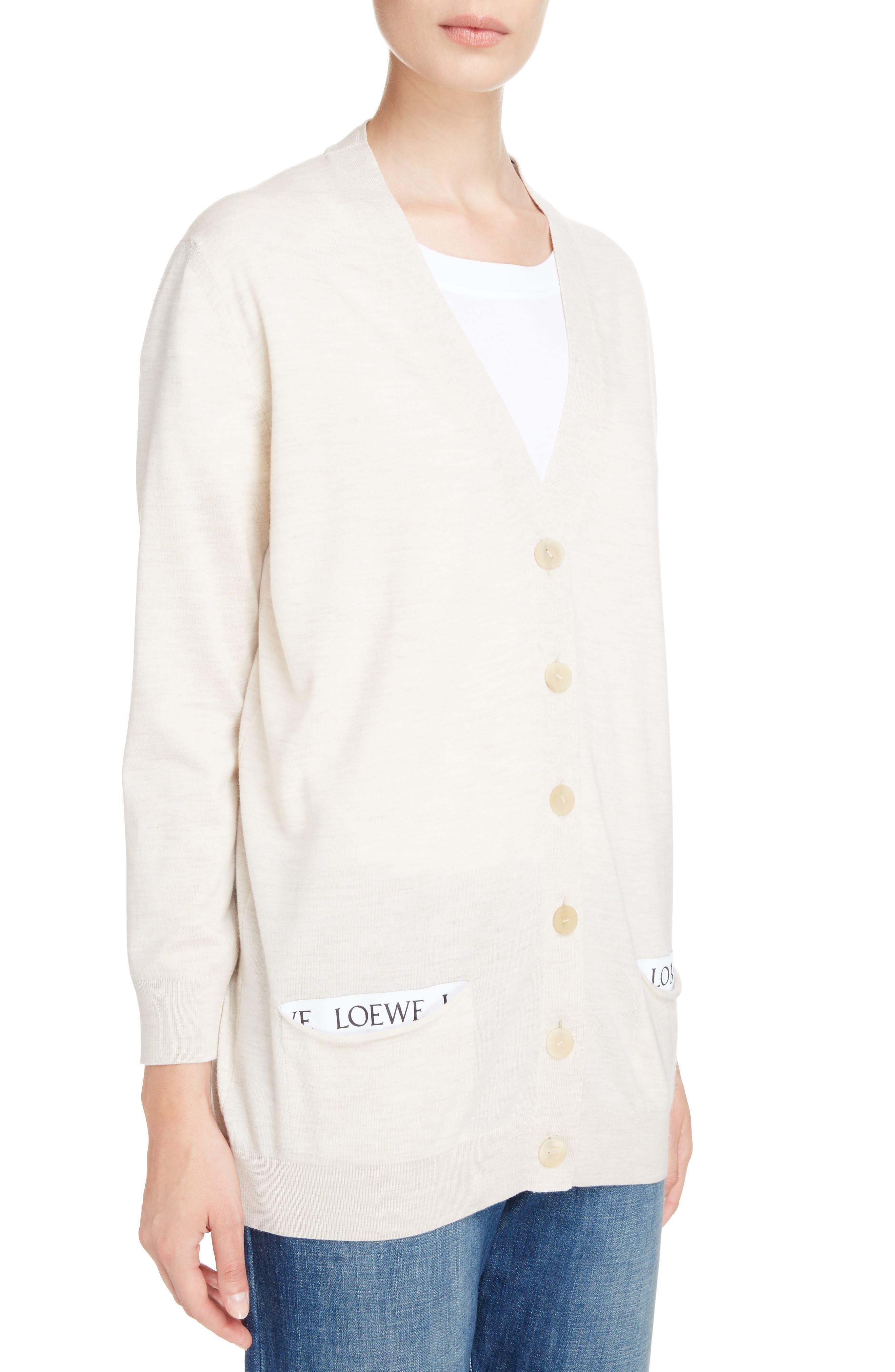 Alternate Image 3  - Loewe Logo Wool Blend Cardigan