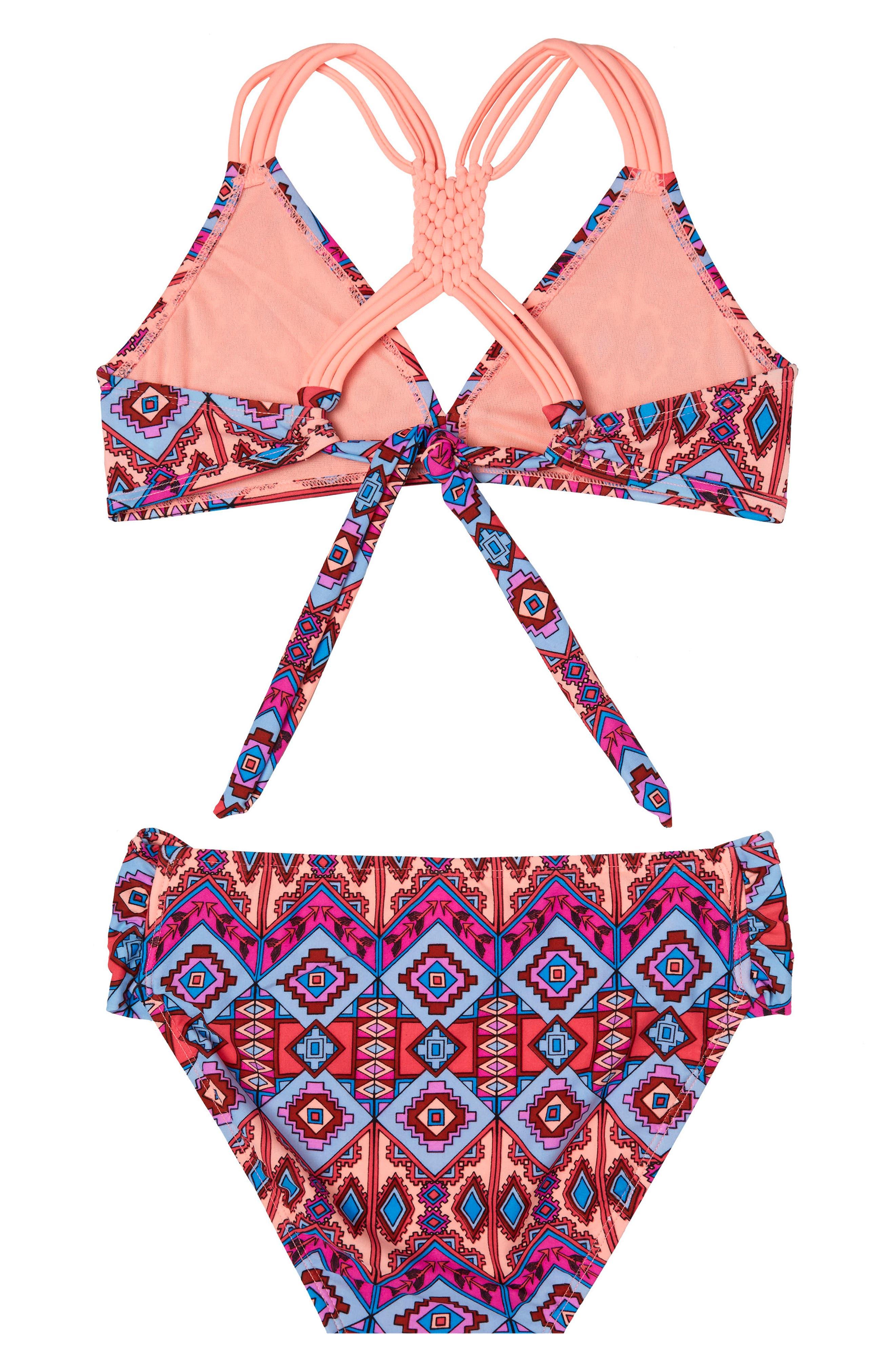 Alternate Image 2  - Gossip Girl Brave Spirit Two-Piece Swimsuit (Big Girls)