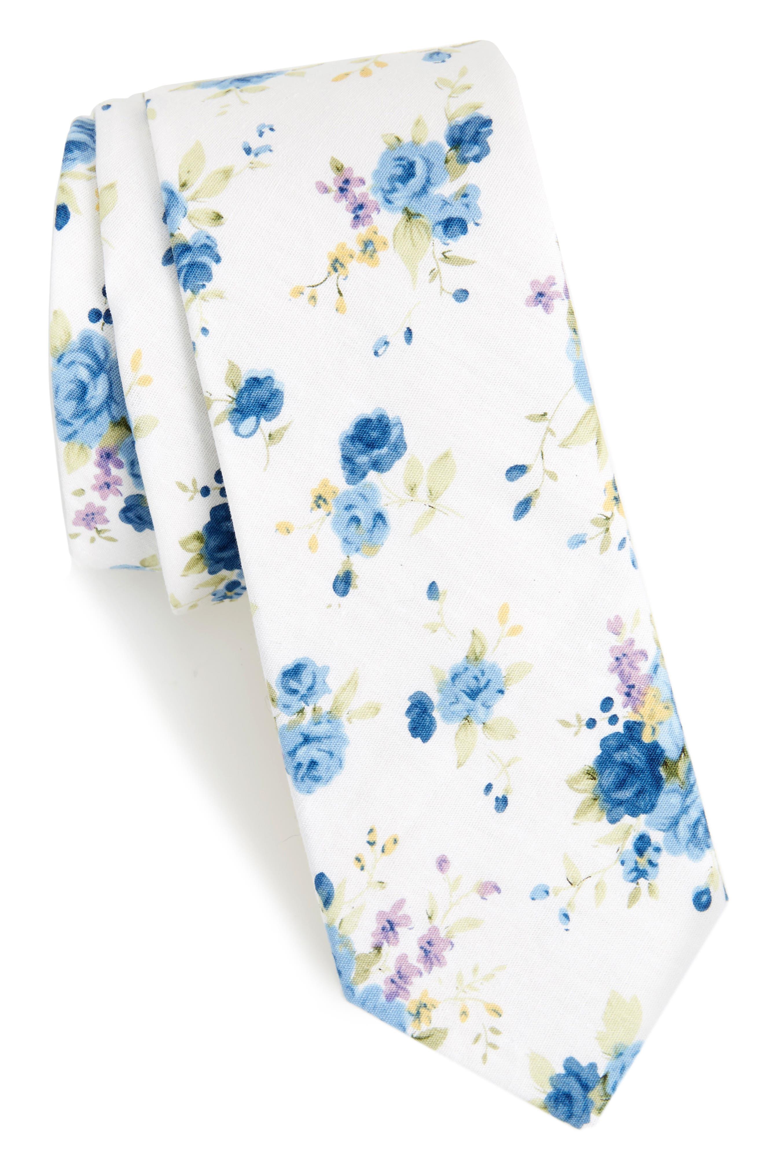1901 Knapp Floral Cotton Tie
