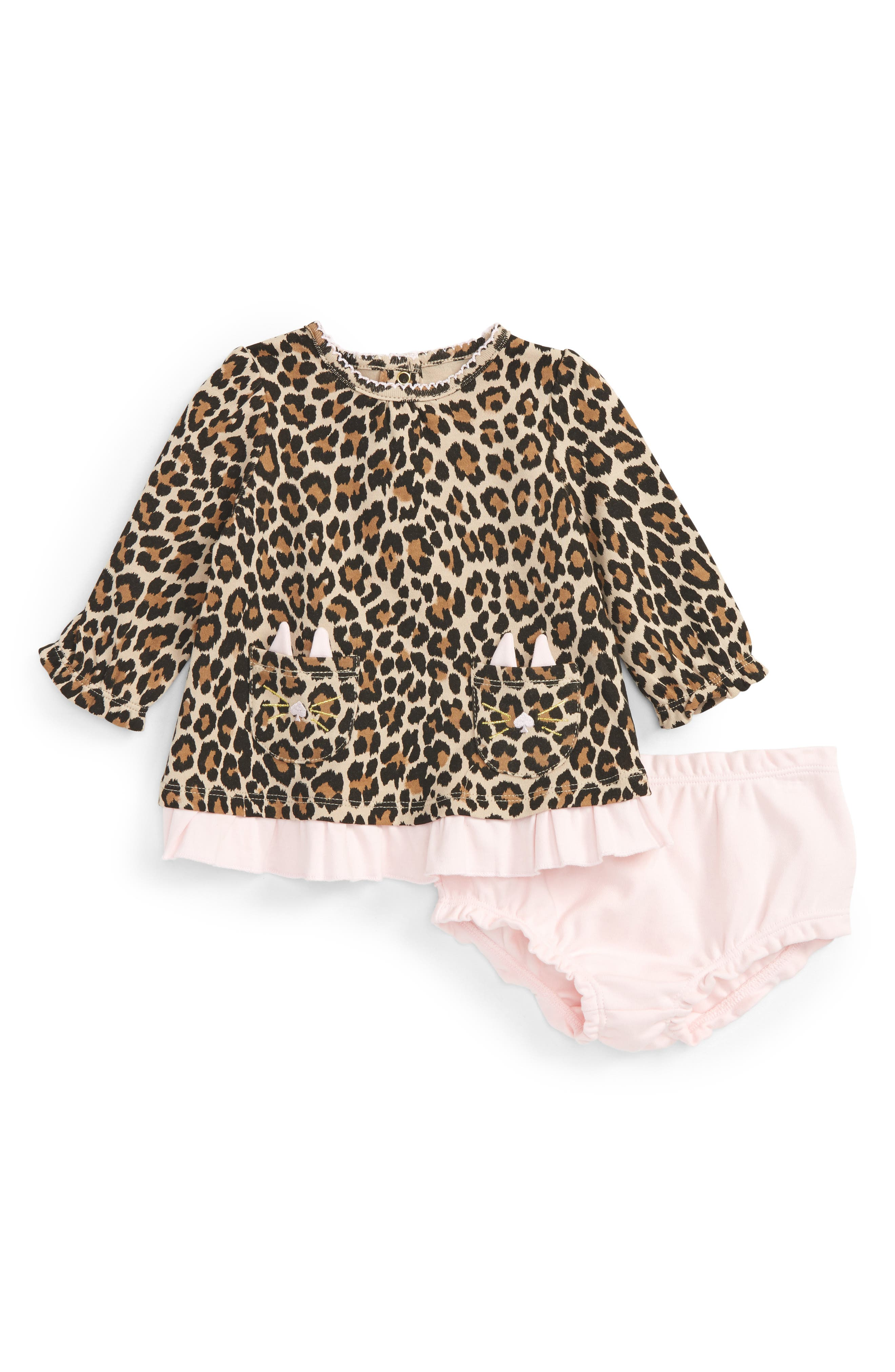 kate spade new york leopard print dress (Baby Girls)