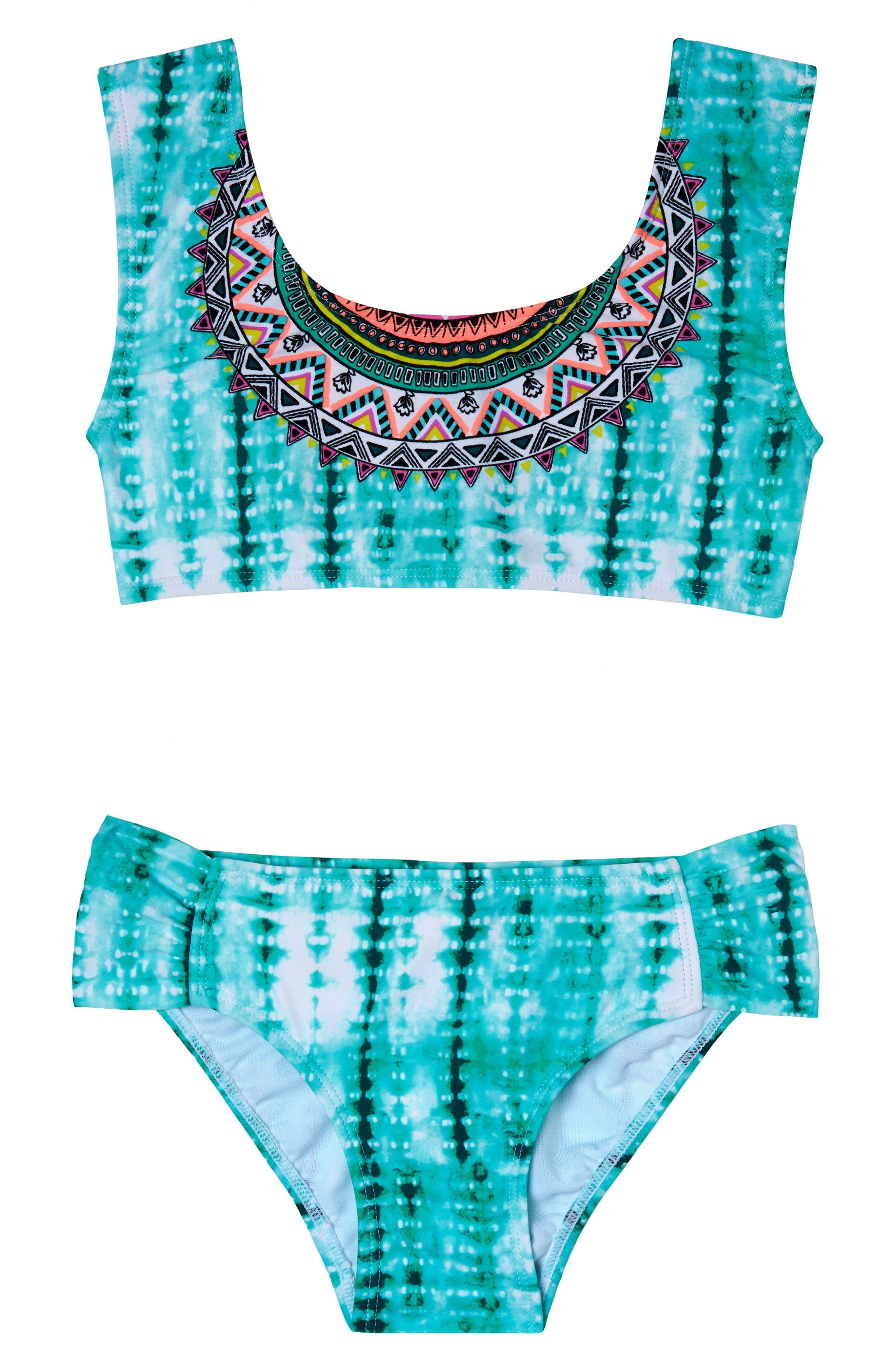 Gossip Girl Desert Rose Two-Piece Swimsuit (Big Girls)