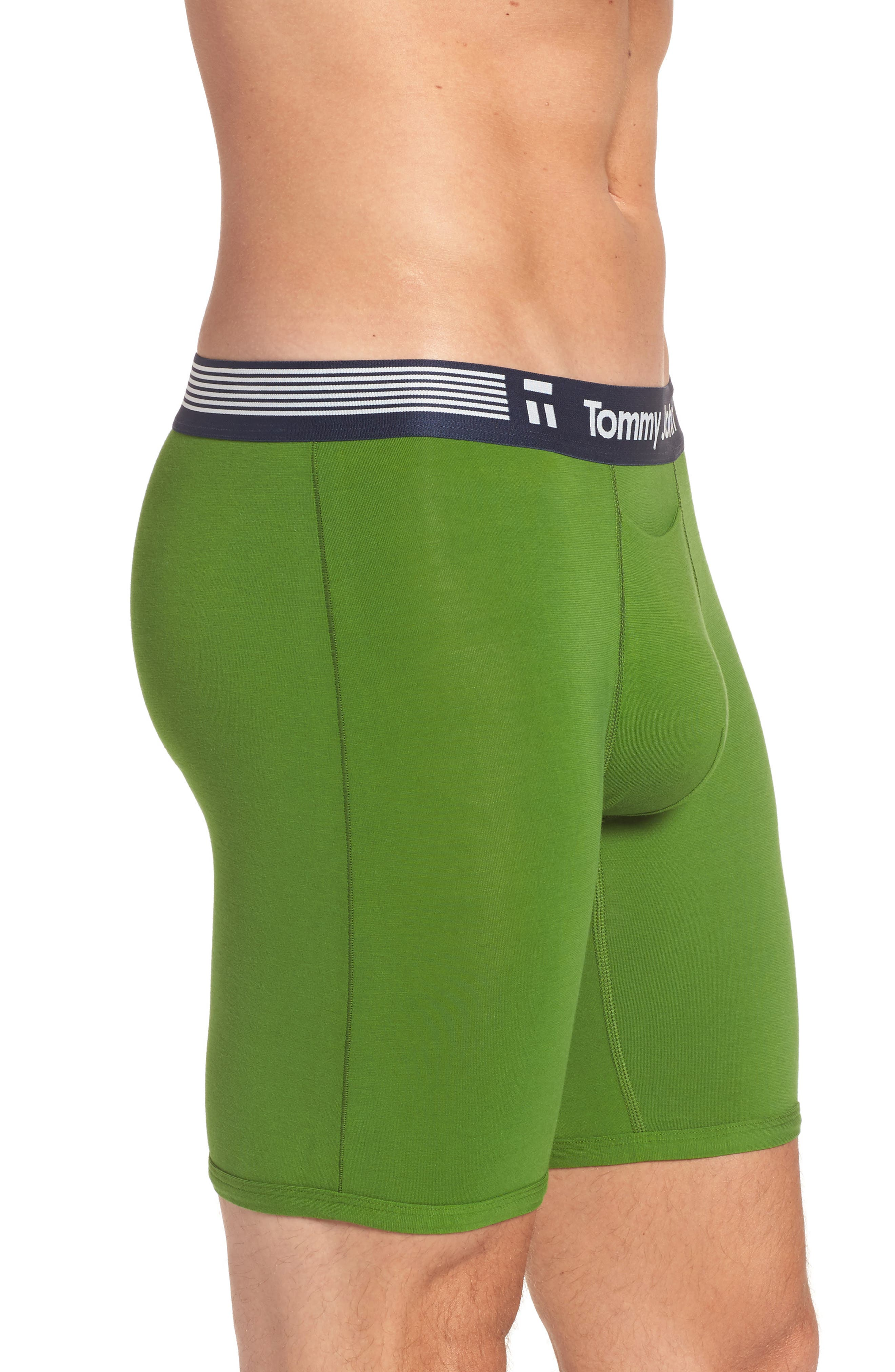 Cool Cotton Armory Boxer Briefs,                             Alternate thumbnail 3, color,                             Grass Green
