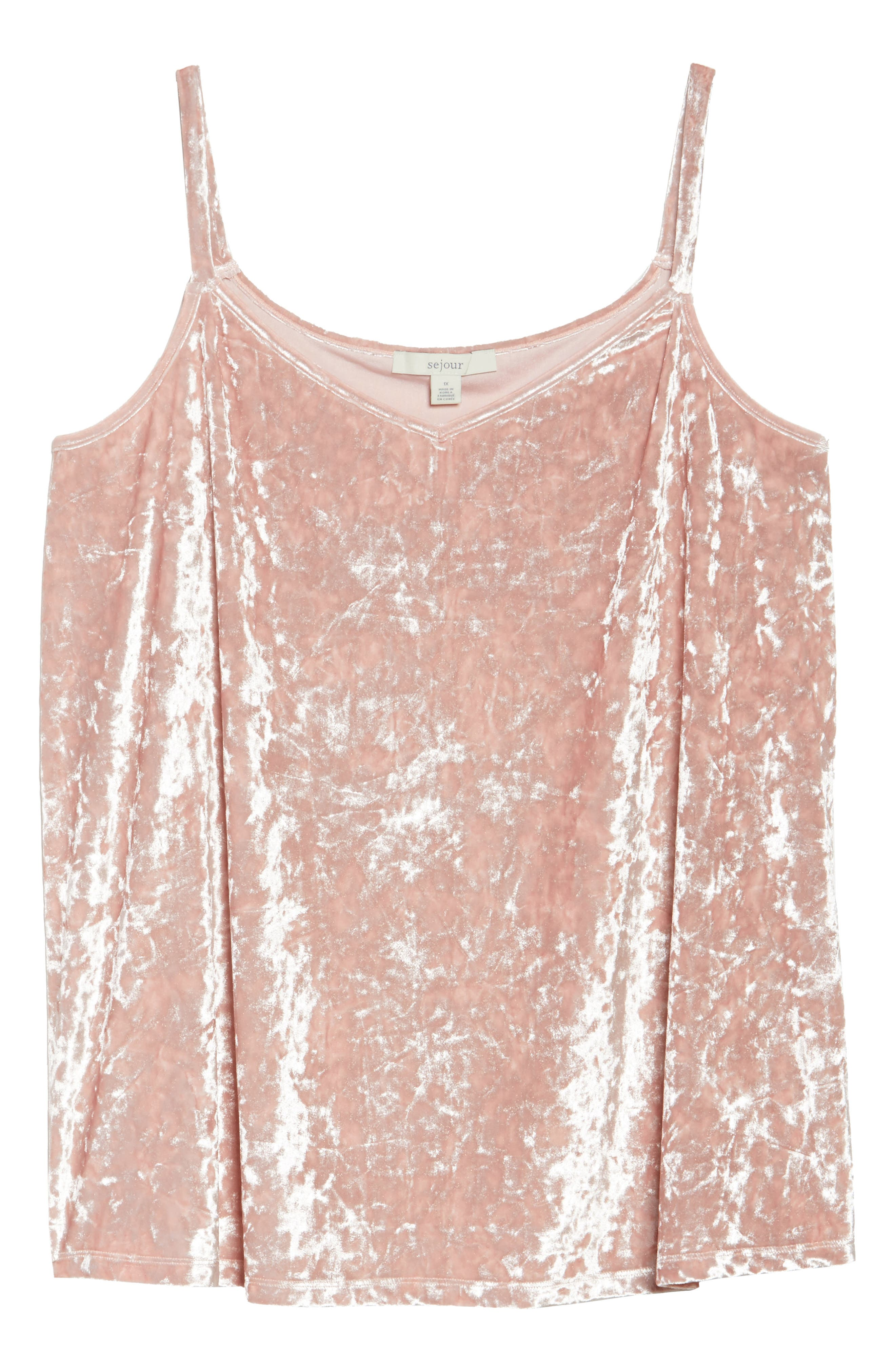 Velour Camisole,                             Alternate thumbnail 6, color,                             Pink Tan