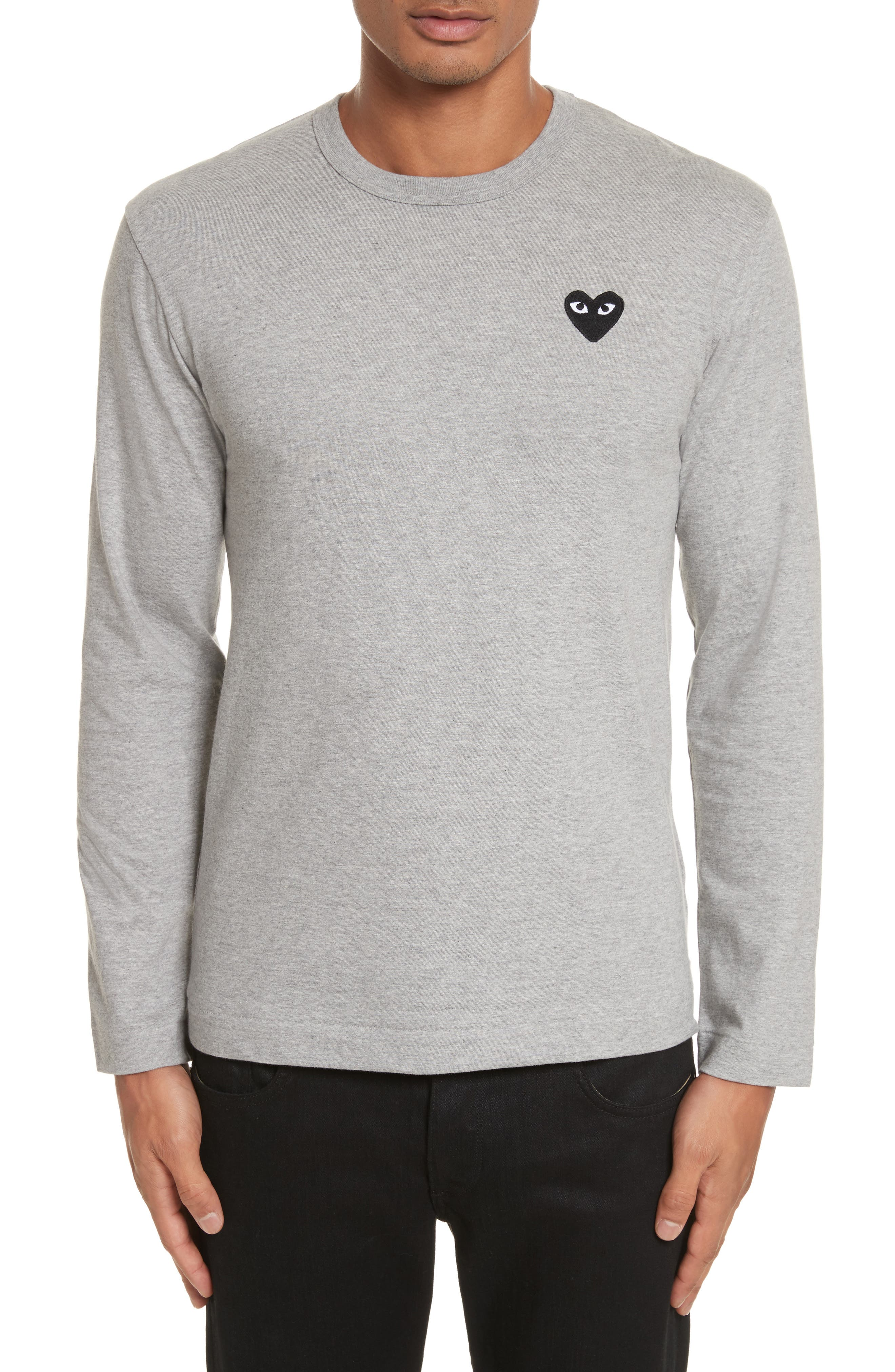 PLAY Long Sleeve T-Shirt,                             Main thumbnail 1, color,                             Grey