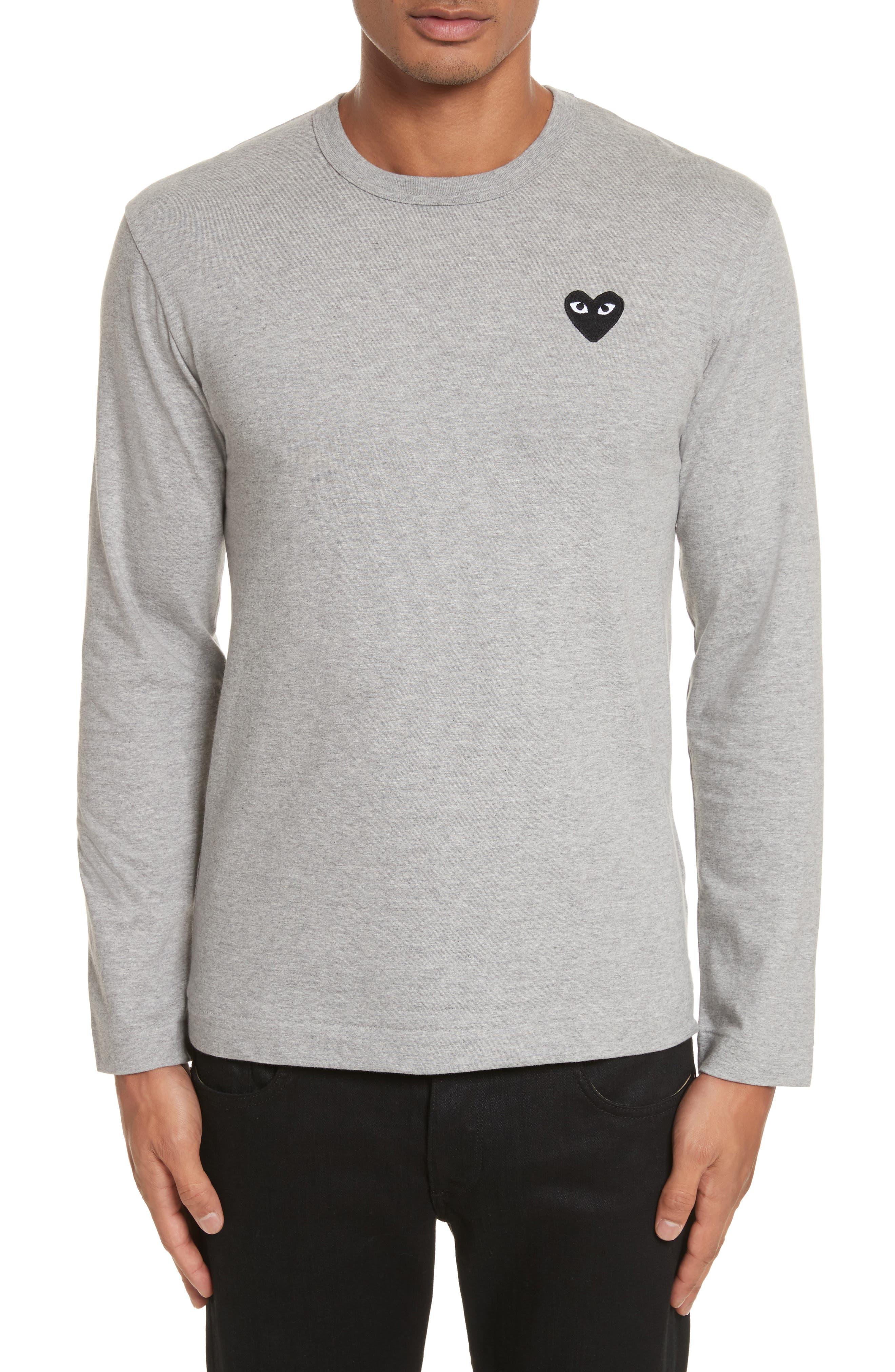 PLAY Long Sleeve T-Shirt,                         Main,                         color, Grey