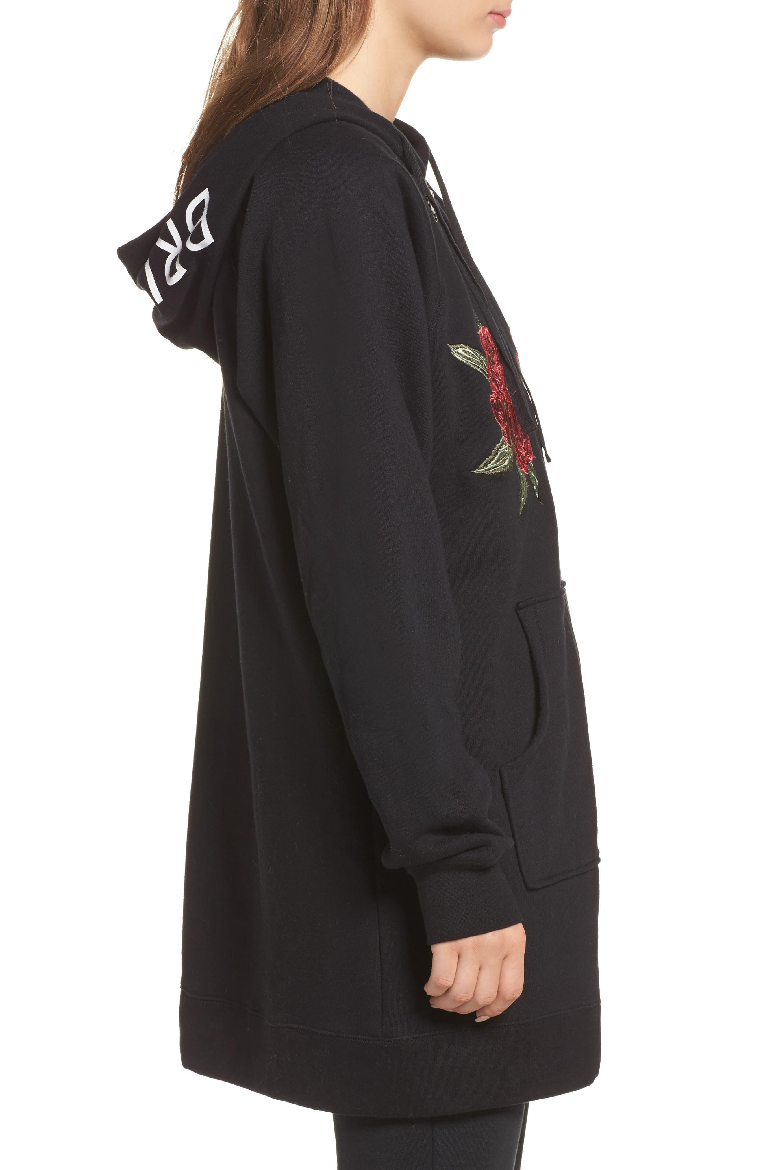 Alternate Image 3  - BRUNETTE the Label Brunette Embroidered Zip Hoodie
