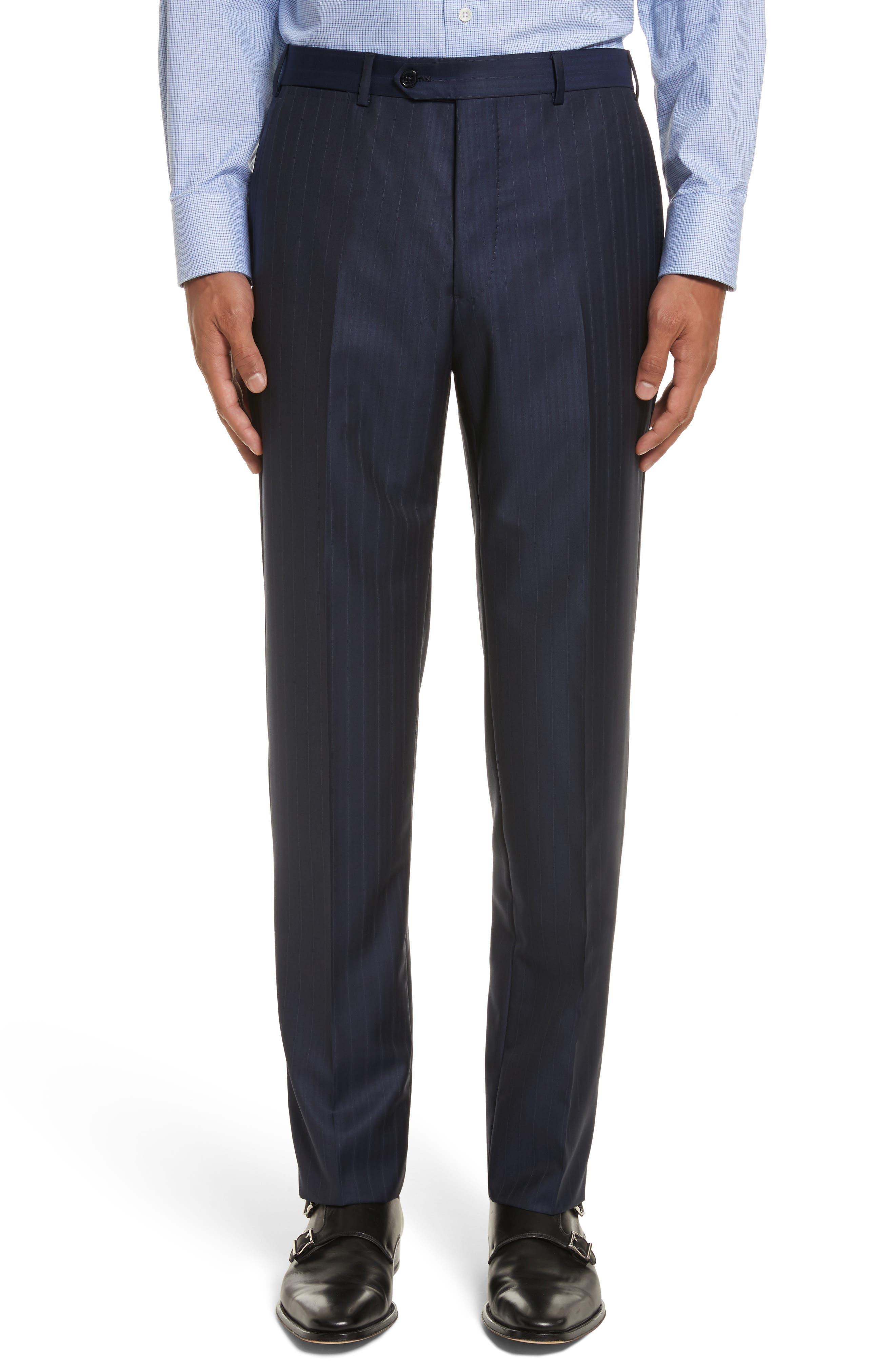 Alternate Image 6  - Armani Collezioni G-Line Trim Fit Stripe Wool Suit