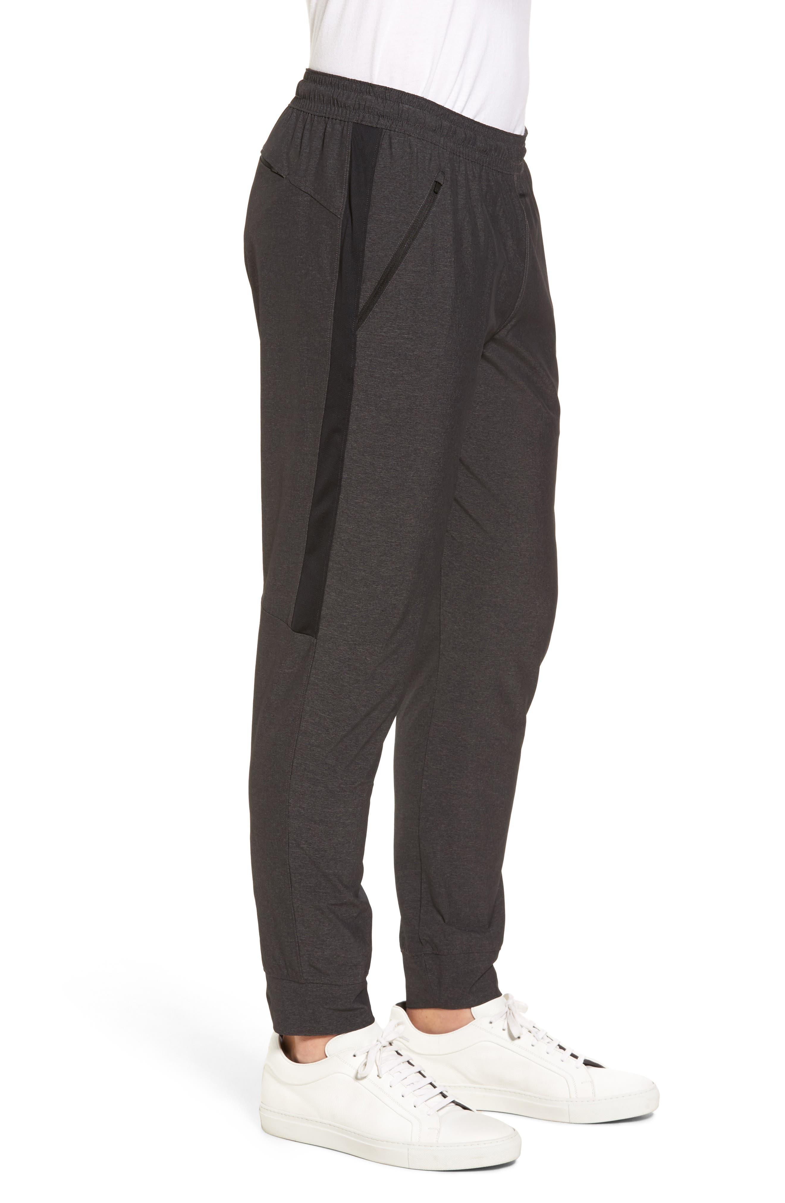 Zip Pocket Sweatpants,                             Alternate thumbnail 3, color,                             Grey Ebony Melange