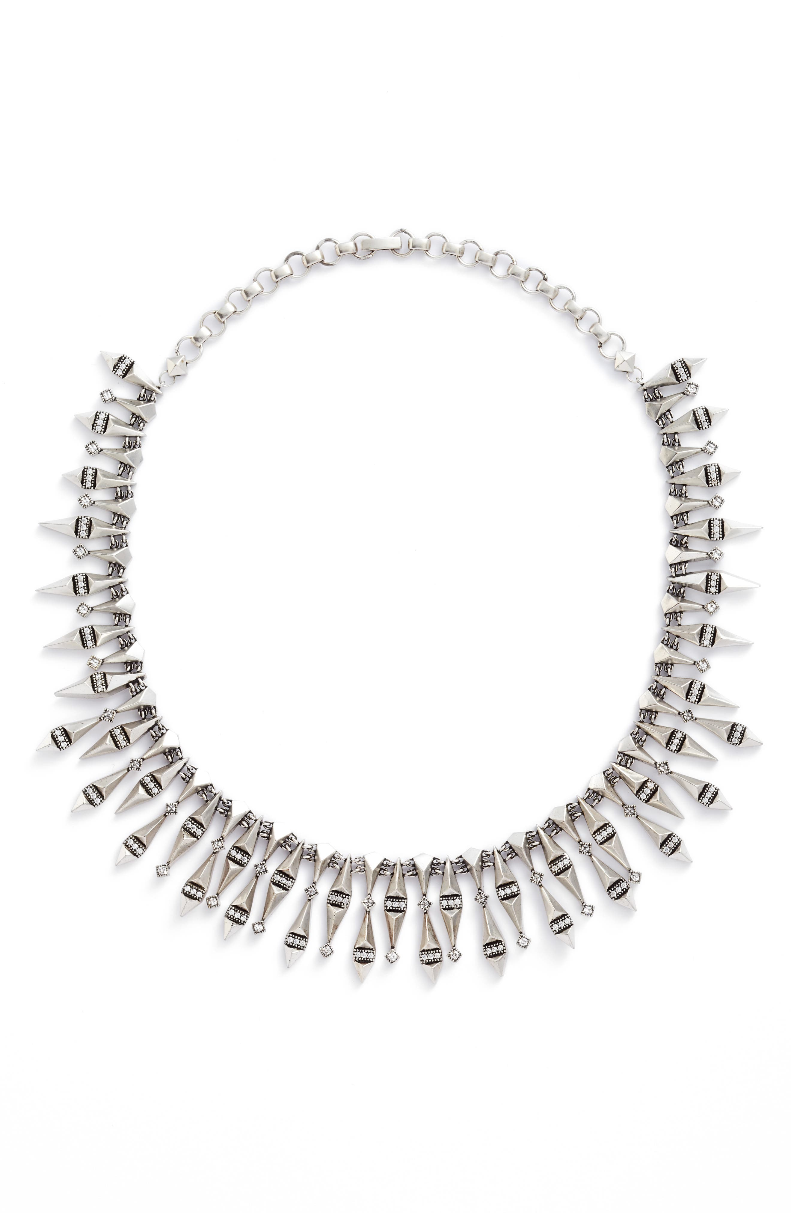 Cici Collar Necklace,                             Main thumbnail 1, color,                             Antique Silver