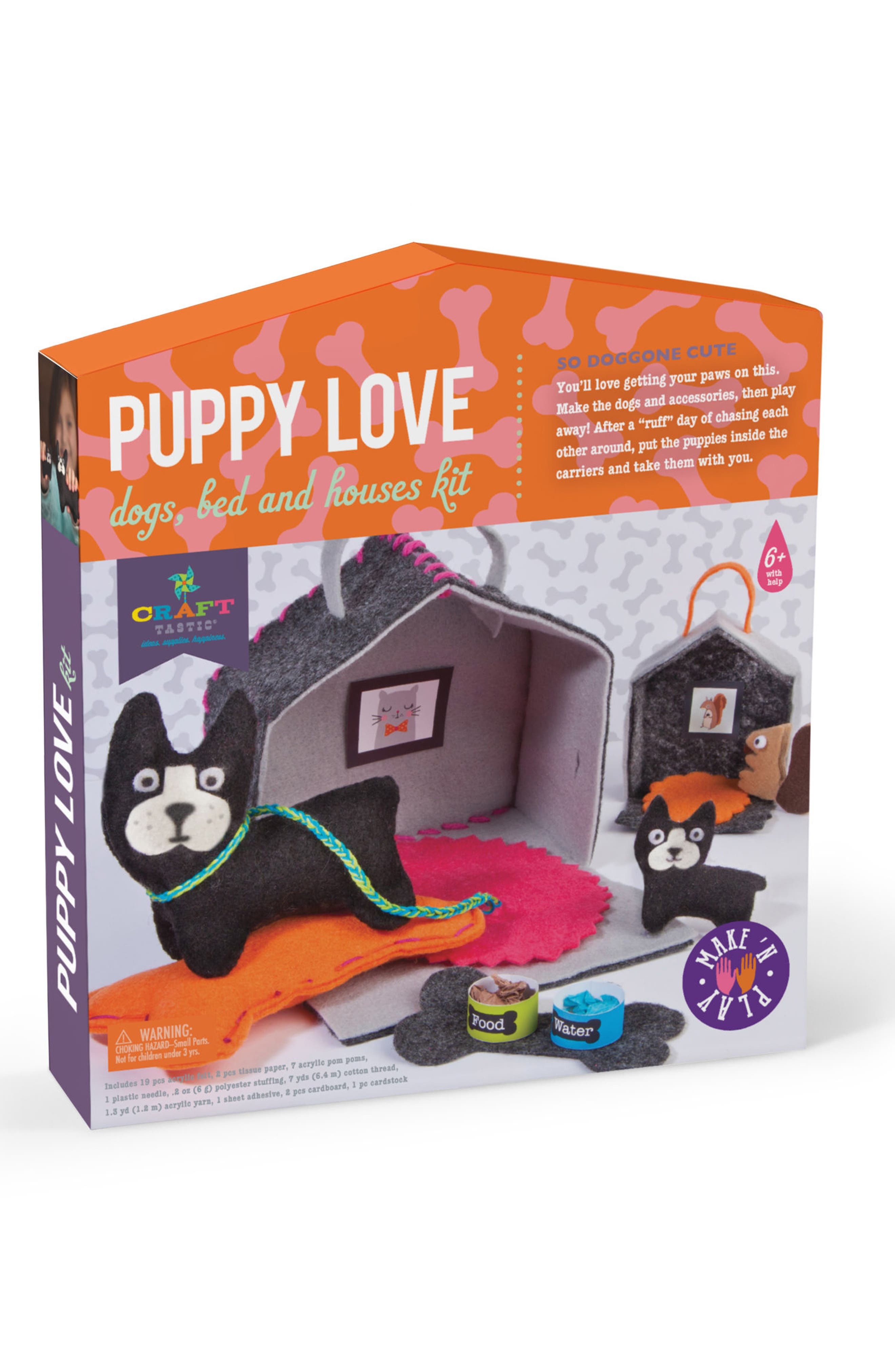 CRAFT-TASTIC Puppy Love Dogs, Bed & House Craft Kit