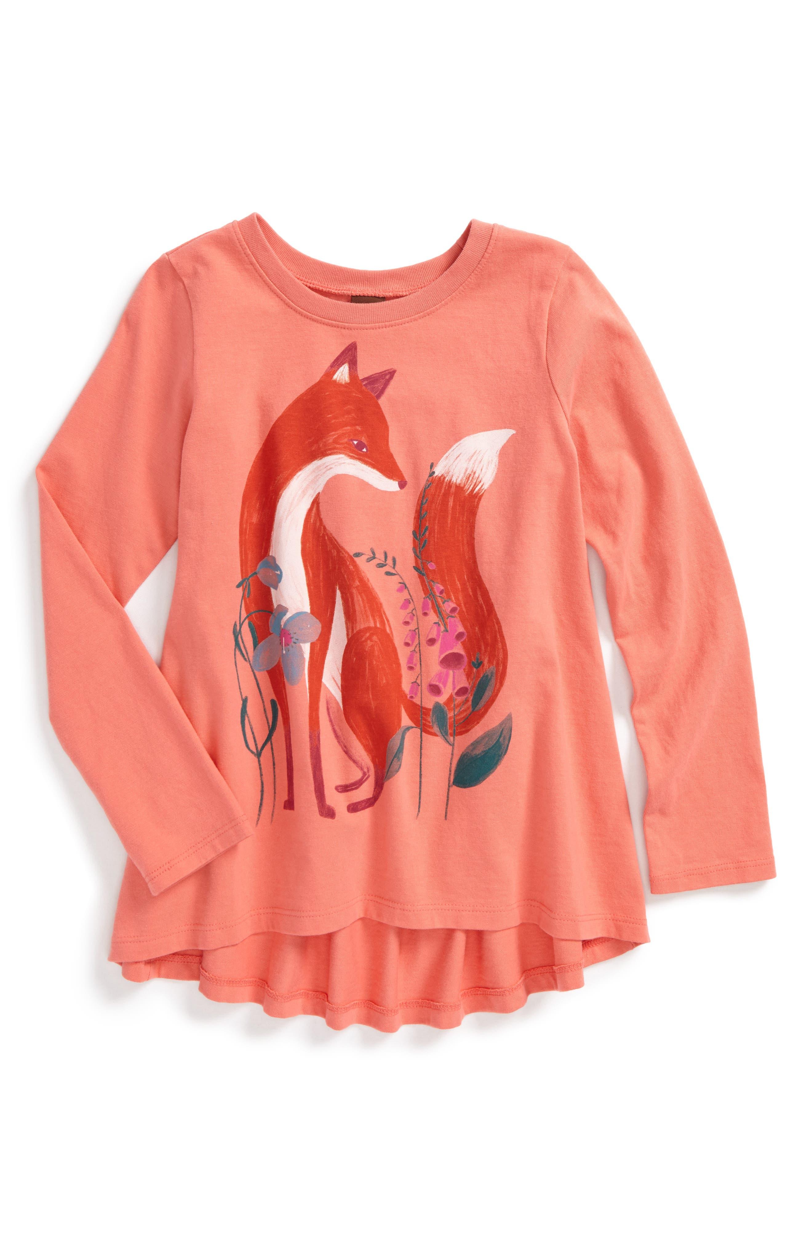 Main Image - Tea Collection Orain Twirl Top (Toddler Girls, Little Girls & Big Girls)