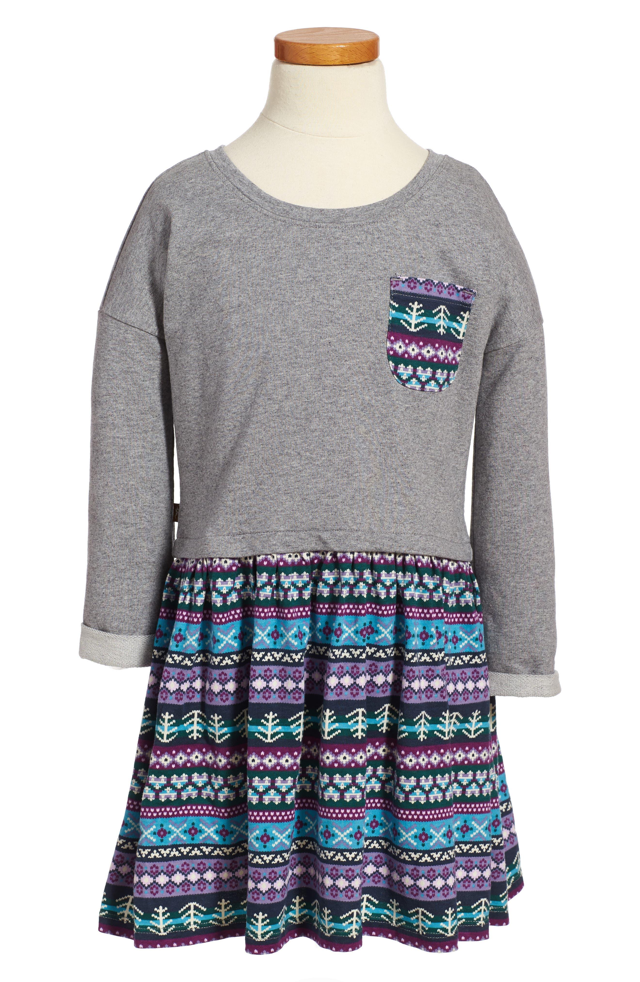 Islay Dress,                         Main,                         color, Med Heather Grey