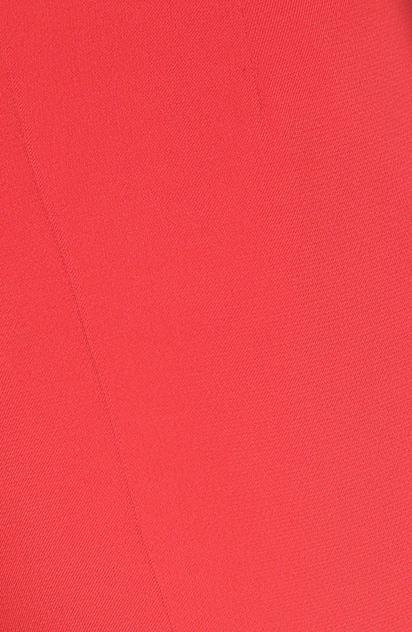 Cady Flare Suiting Pants,                             Alternate thumbnail 5, color,                             Ginger Red