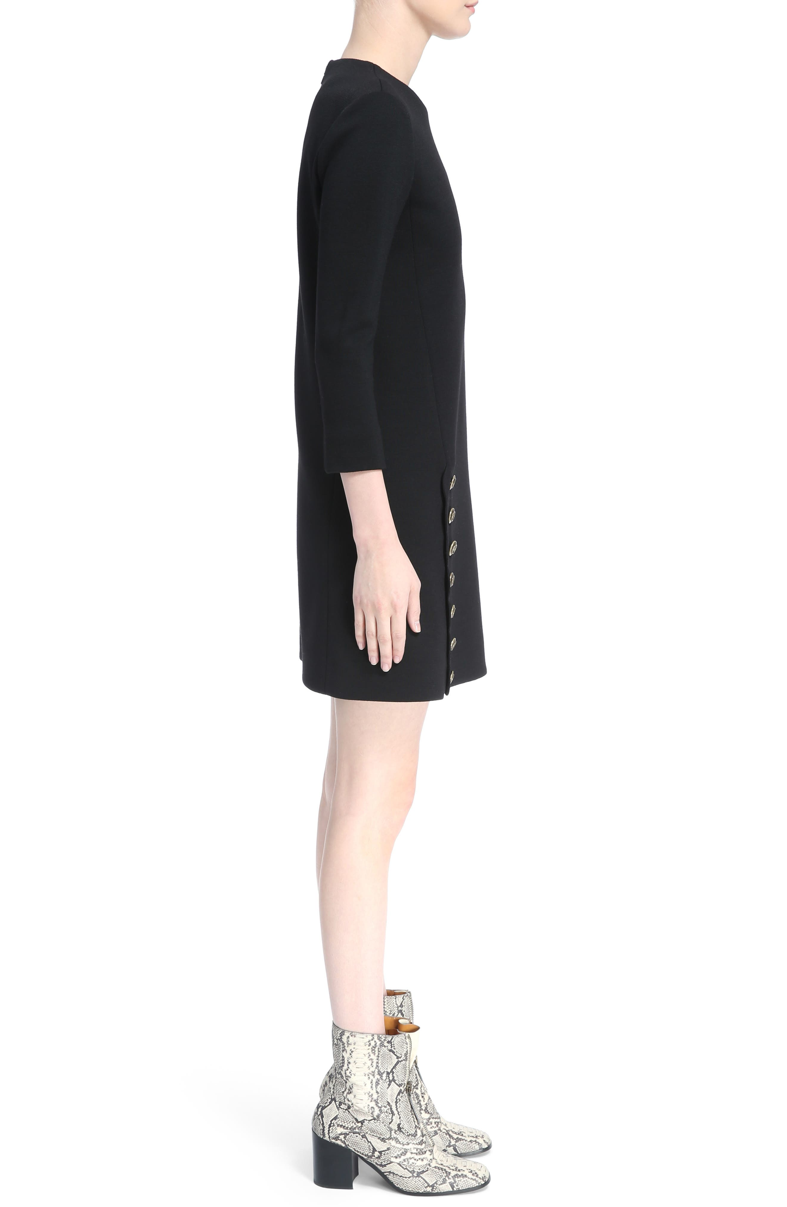 Alternate Image 3  - Chloé Button Trim Wool Knit Dress