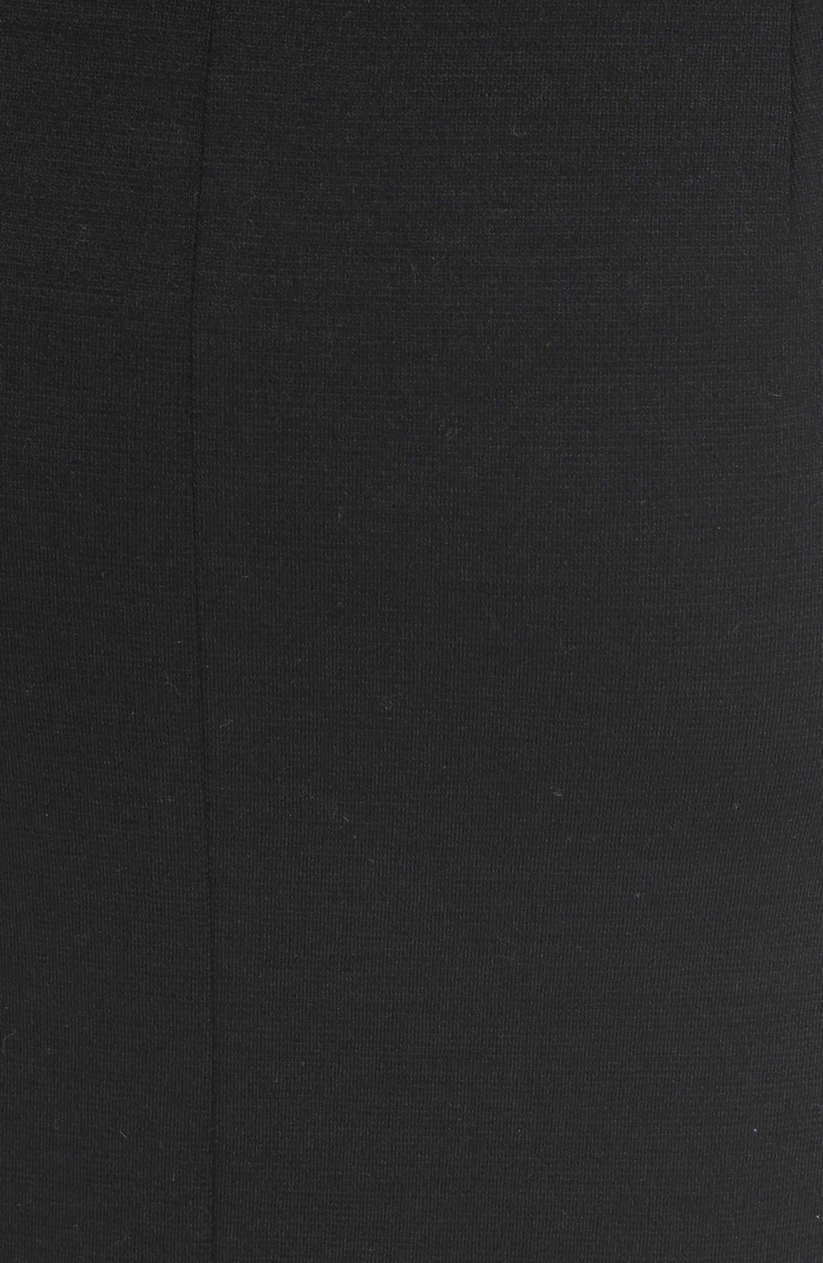 Button Detail Wool Knit Skirt,                             Alternate thumbnail 6, color,                             Black