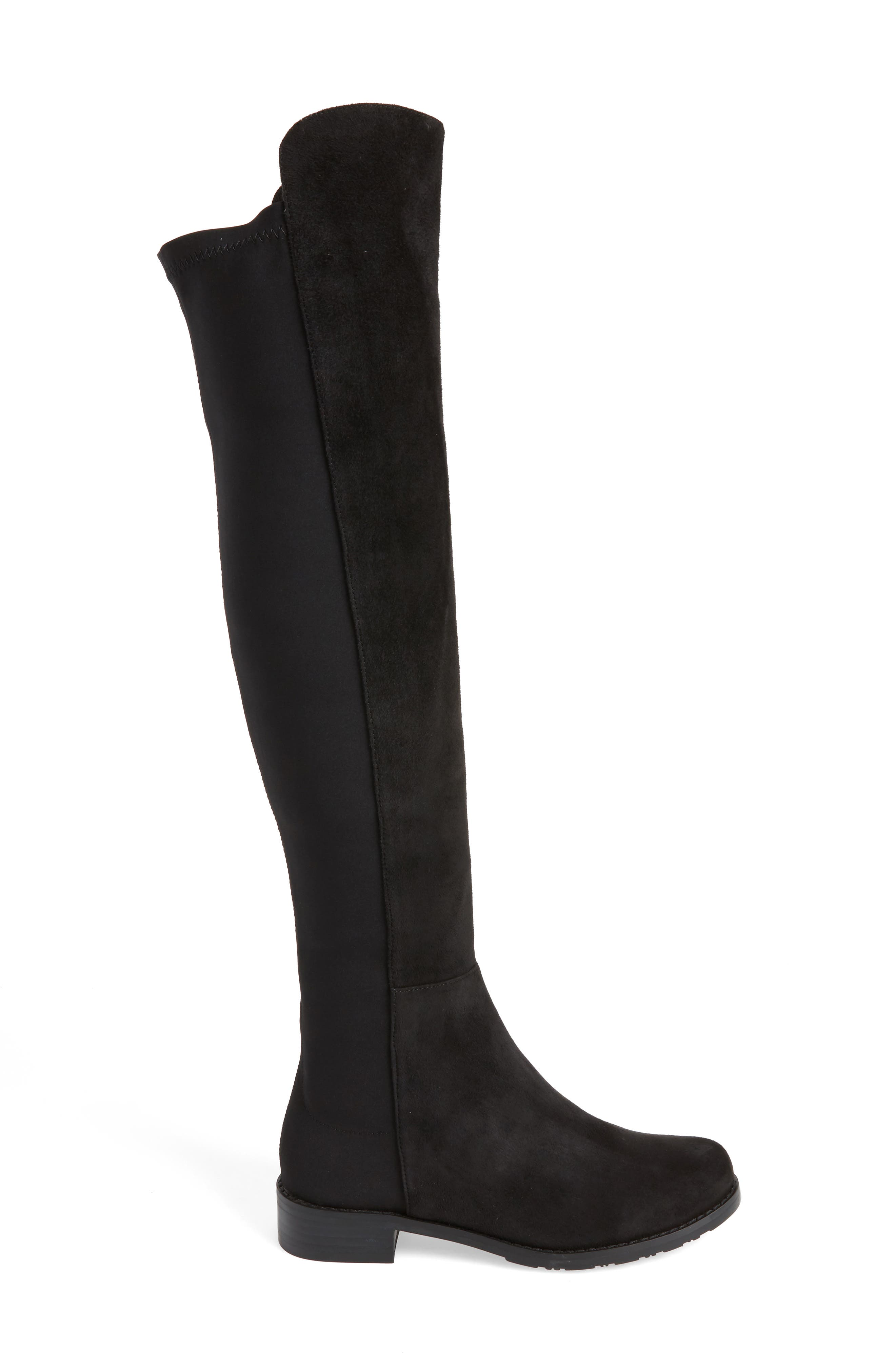 Panache Tall Boot,                             Alternate thumbnail 3, color,                             Black Suede