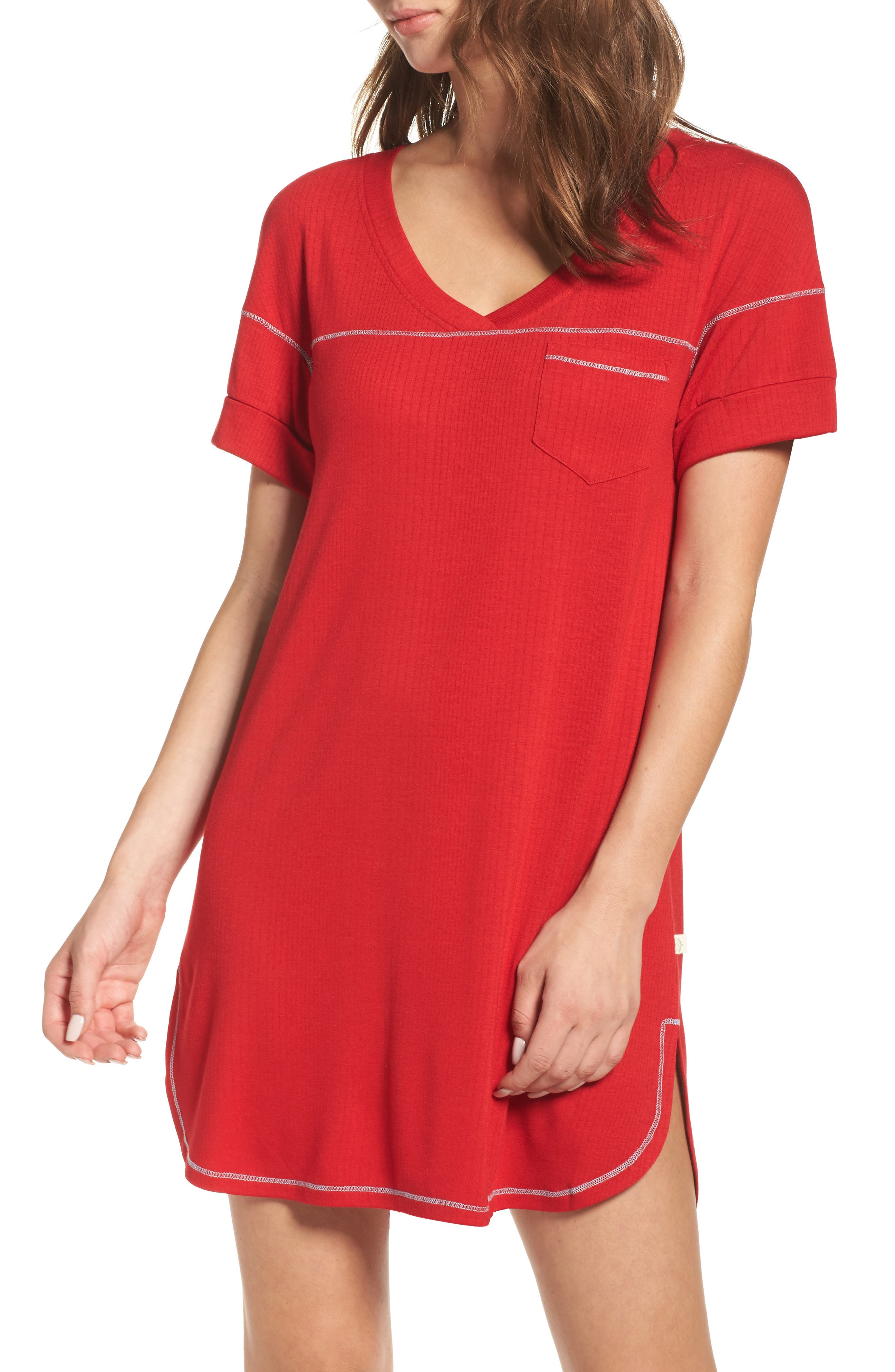 Alternate Image 1 Selected - Honeydew Intimates Rib Sleep Shirt