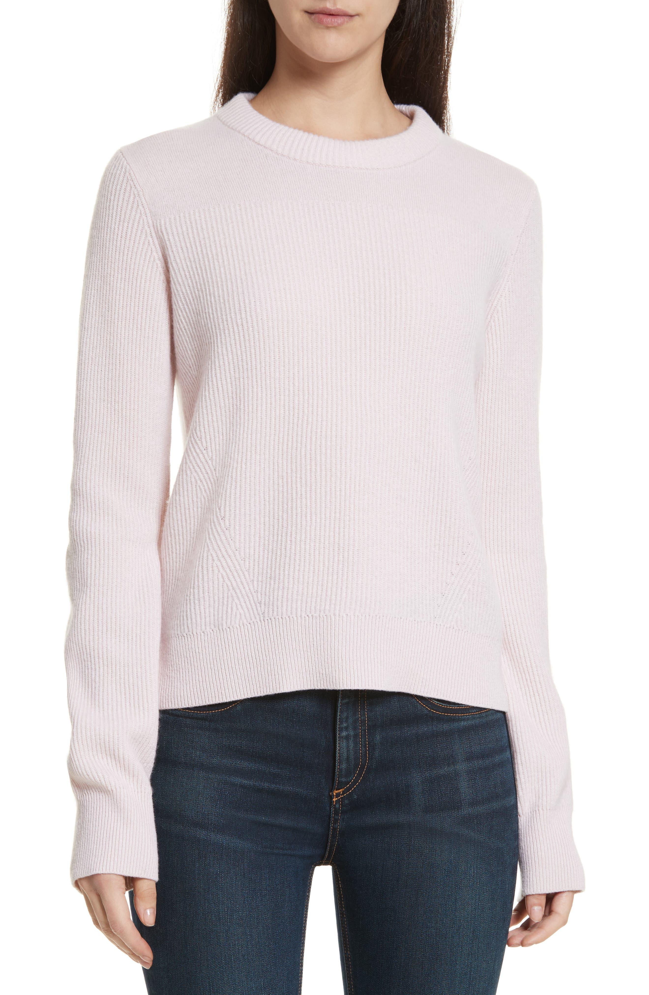 Ace Cashmere Crop Sweater,                         Main,                         color, Pink