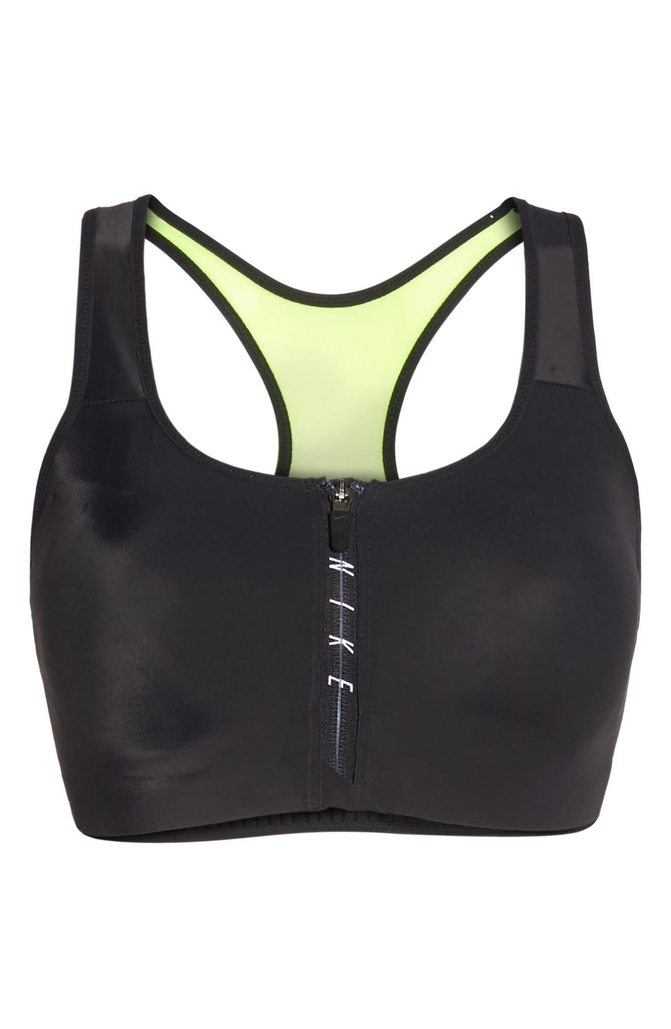 Alternate Image 6  - Nike Shape Zip Sports Bra