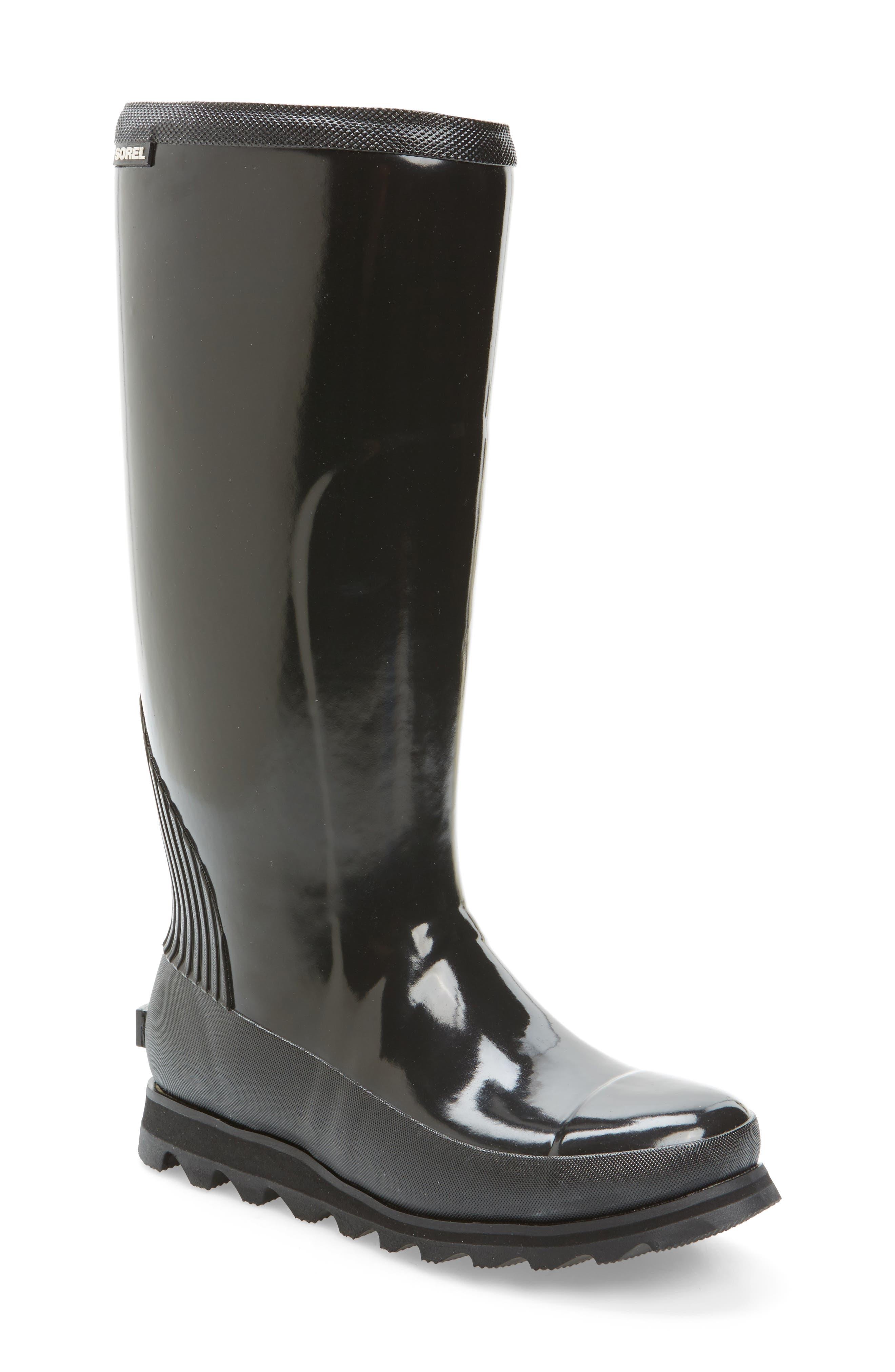 Main Image - SOREL Joan Glossy Tall Rain Boot (Women)