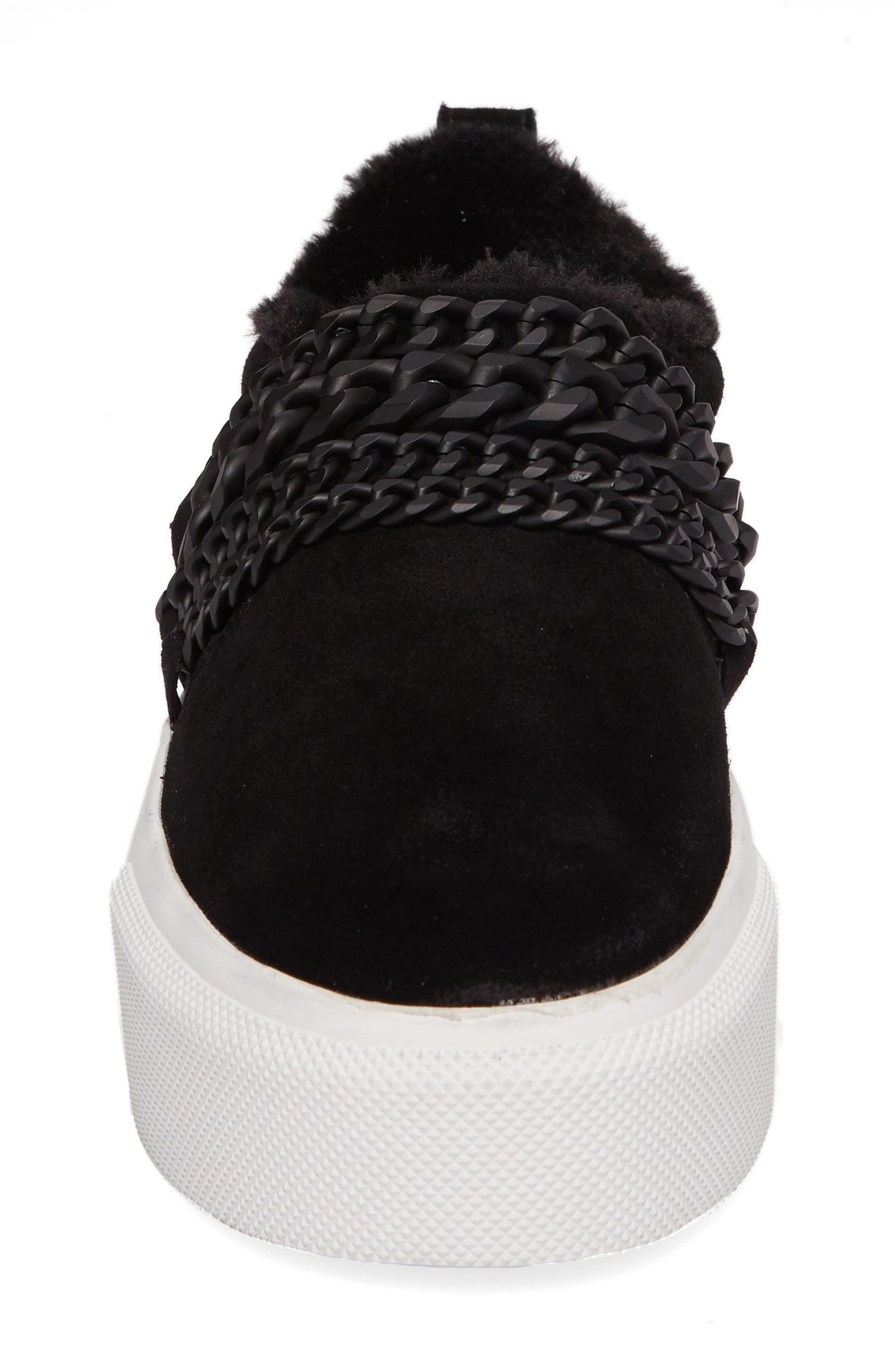 Tory Platform Sneaker,                             Alternate thumbnail 4, color,                             Black