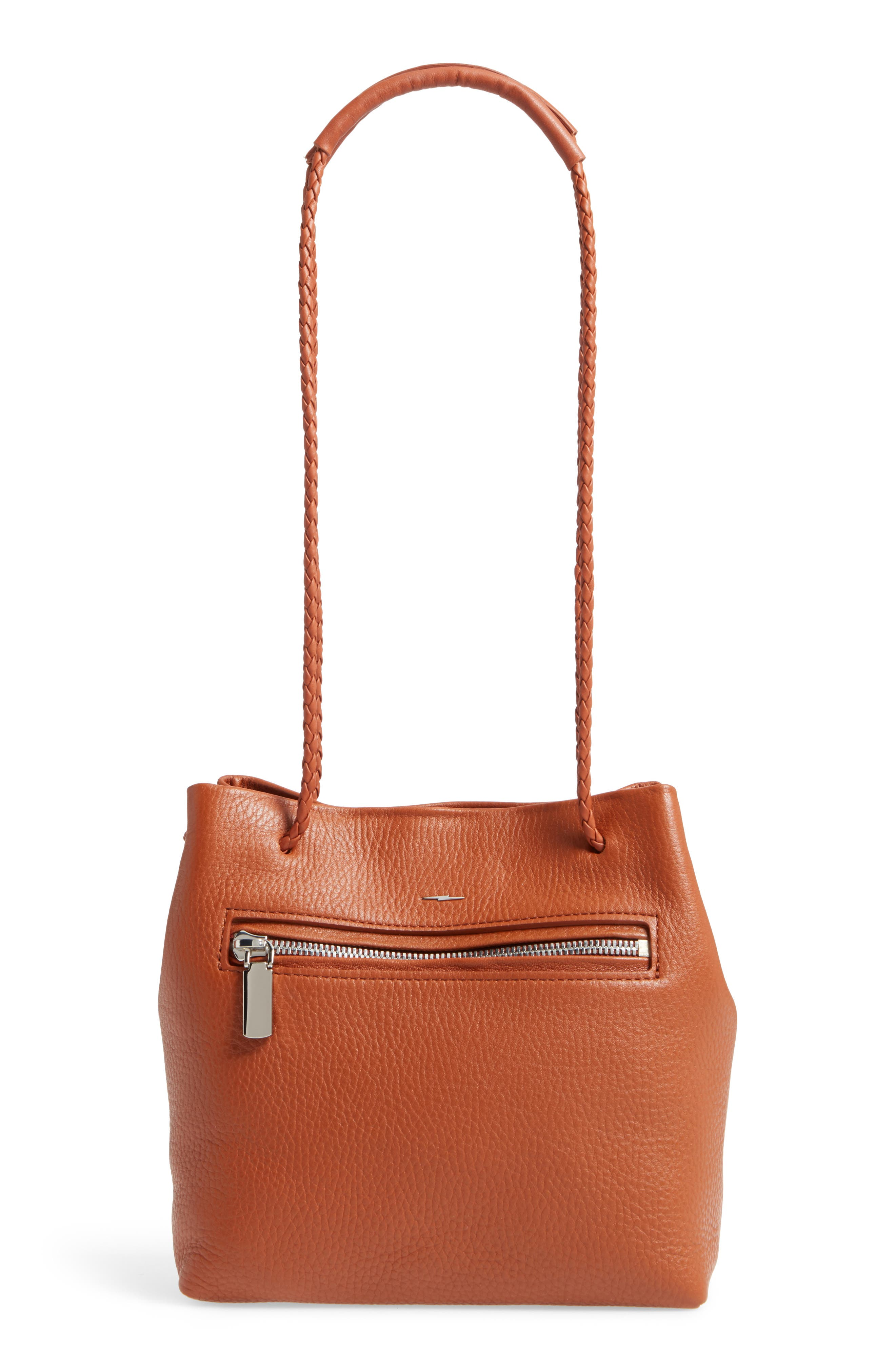 Alternate Image 1 Selected - Shinola Mini Pebbled Leather Drawstring Crossbody Bag