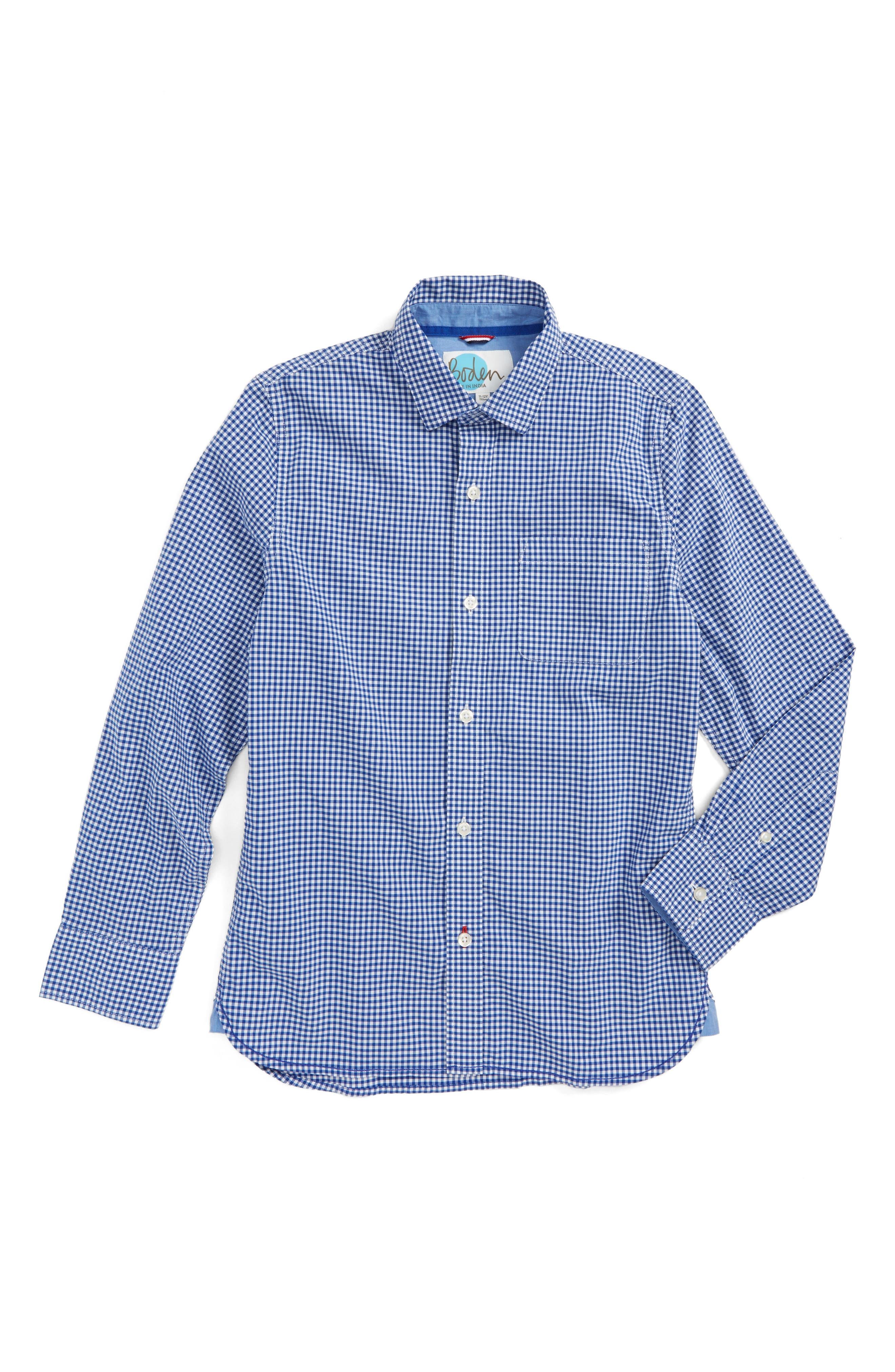 Mini Boden Laundered Shirt (Toddler Boys, Little Boys & Big Boys)