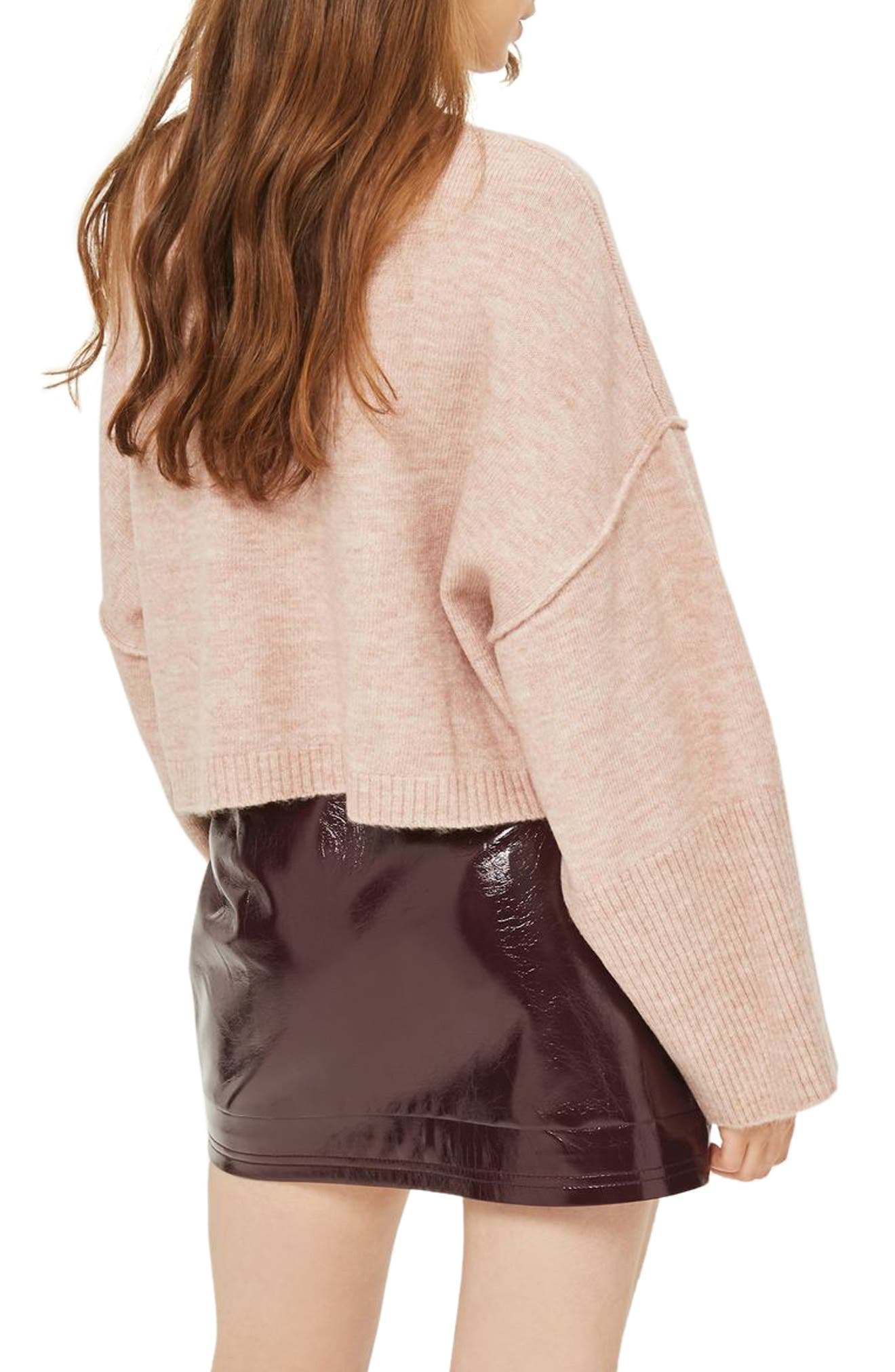 Alternate Image 2  - Topshop Wide Sleeve Crop Sweater