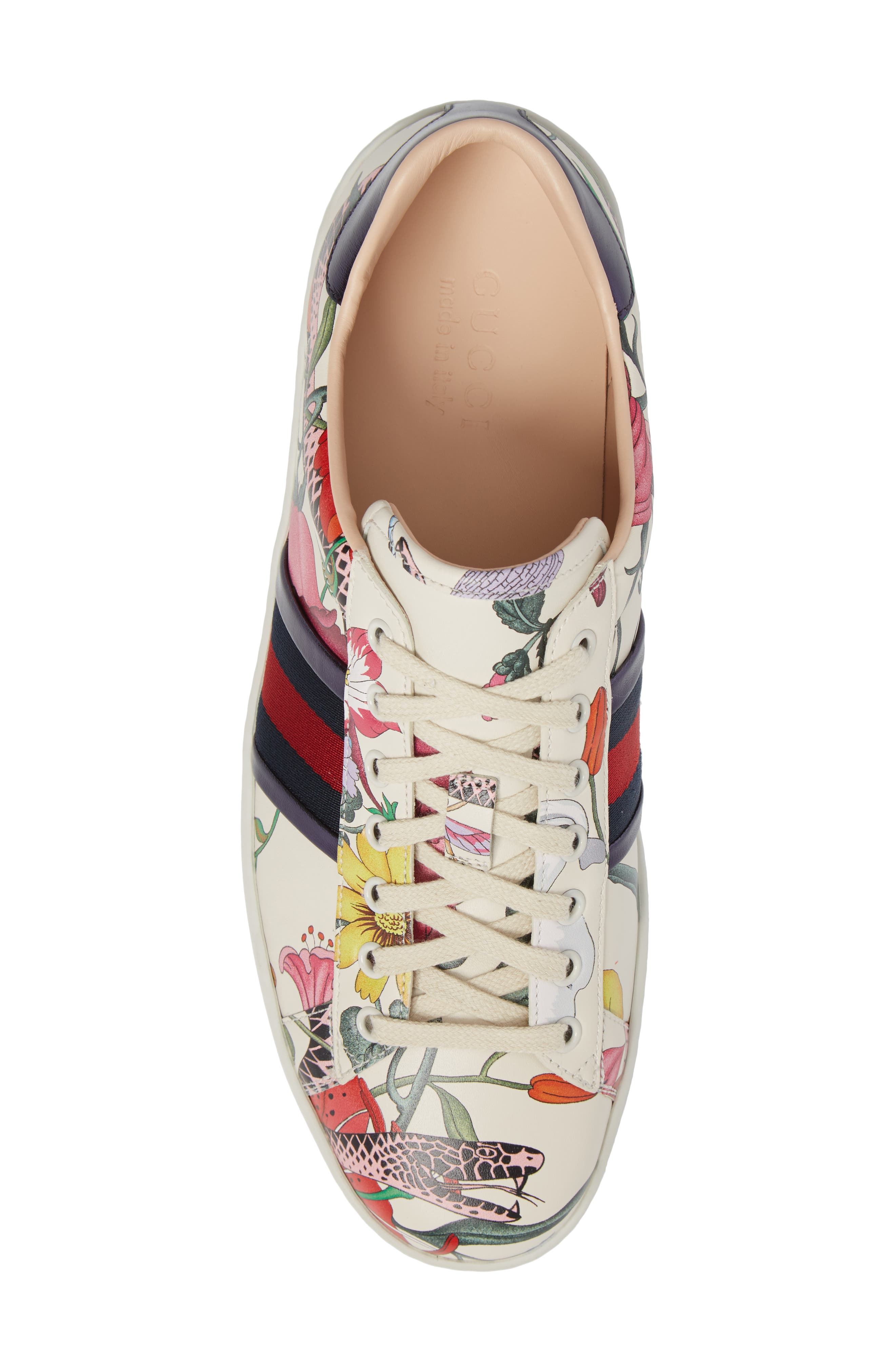 Alternate Image 5  - Gucci New Ace Floral Dino Sneaker (Men)
