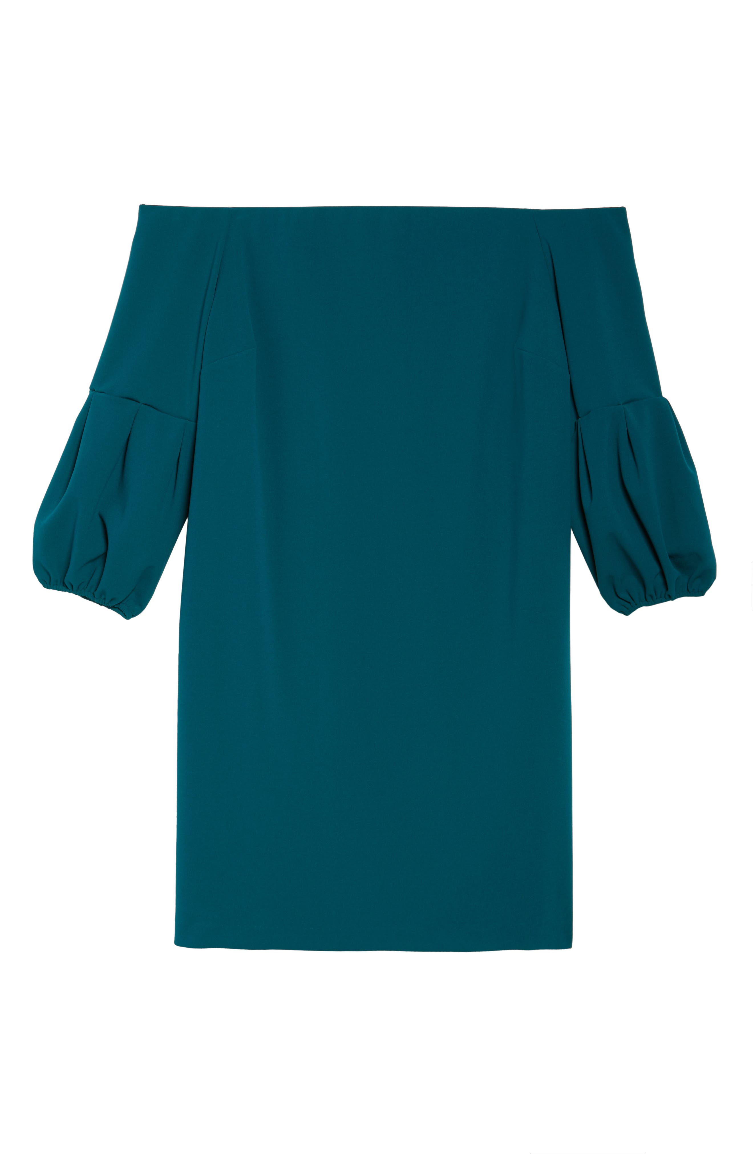 Off the Shoulder Shift Dress,                             Alternate thumbnail 6, color,                             Dark Peacock