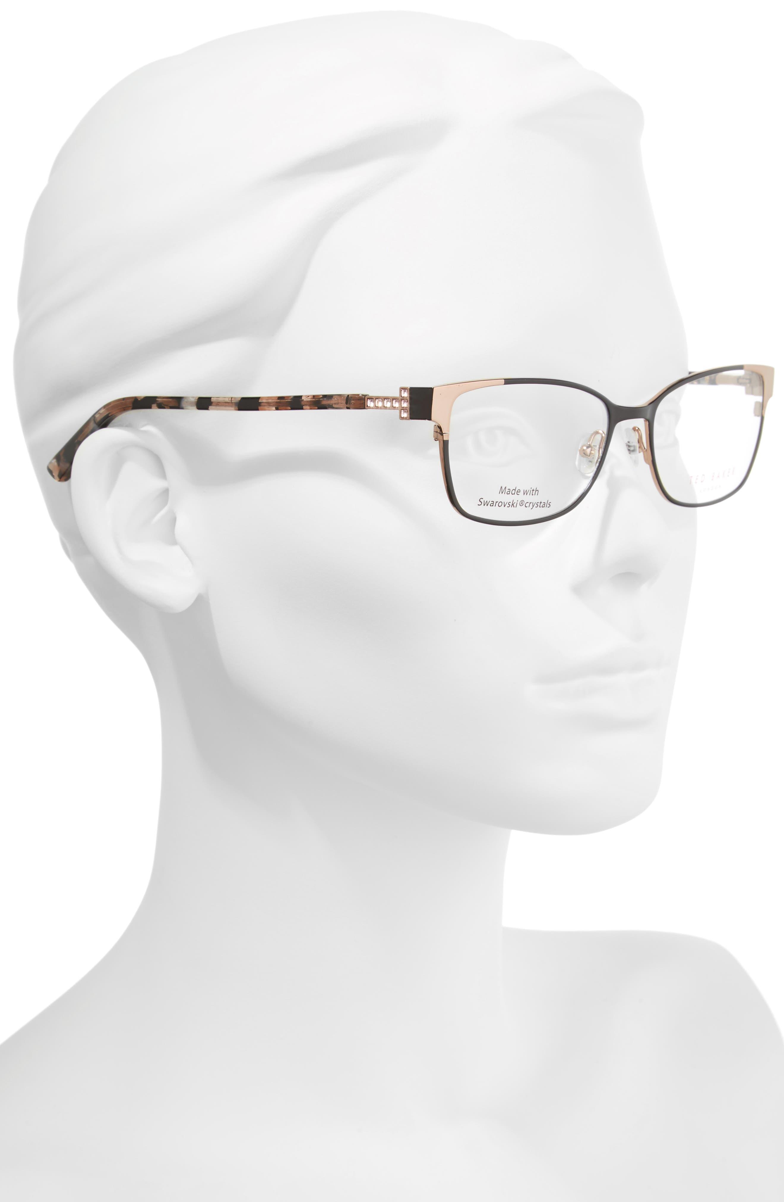 Alternate Image 2  - Ted Baker London 52mm Crystal Rectangular Optical Glasses