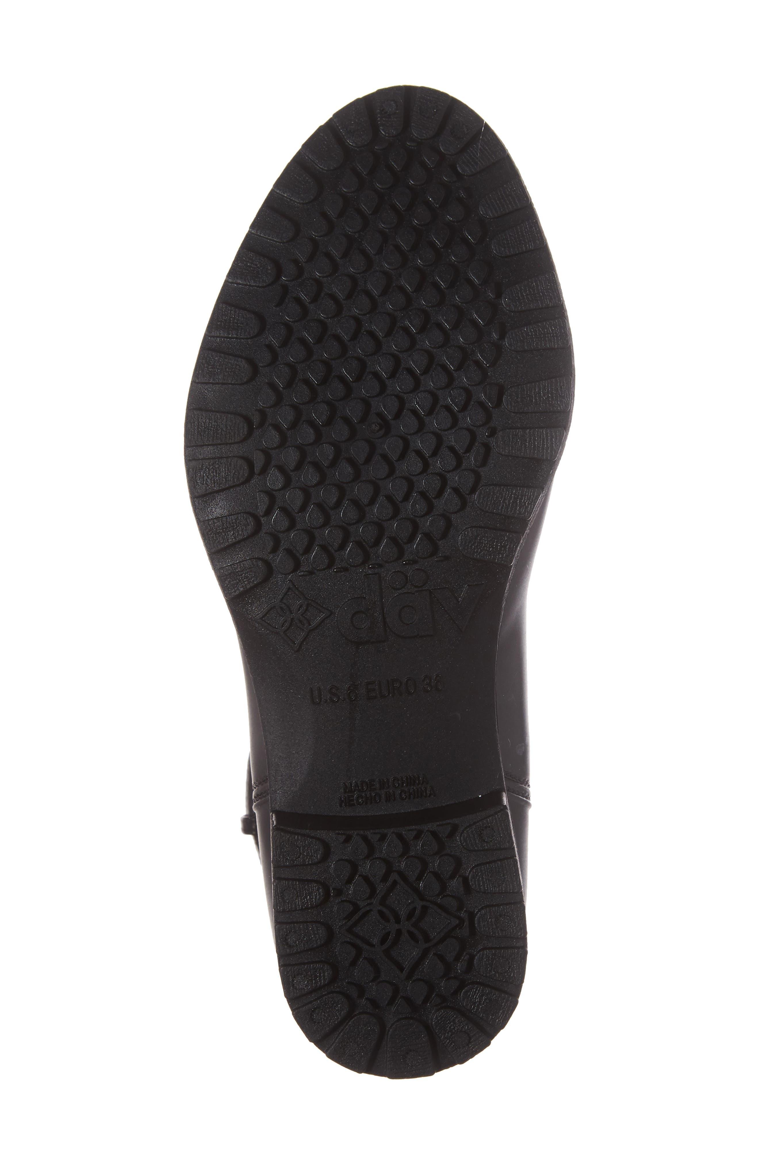 Bowie Faux Water Resistant Mid Boot,                             Alternate thumbnail 6, color,                             Black