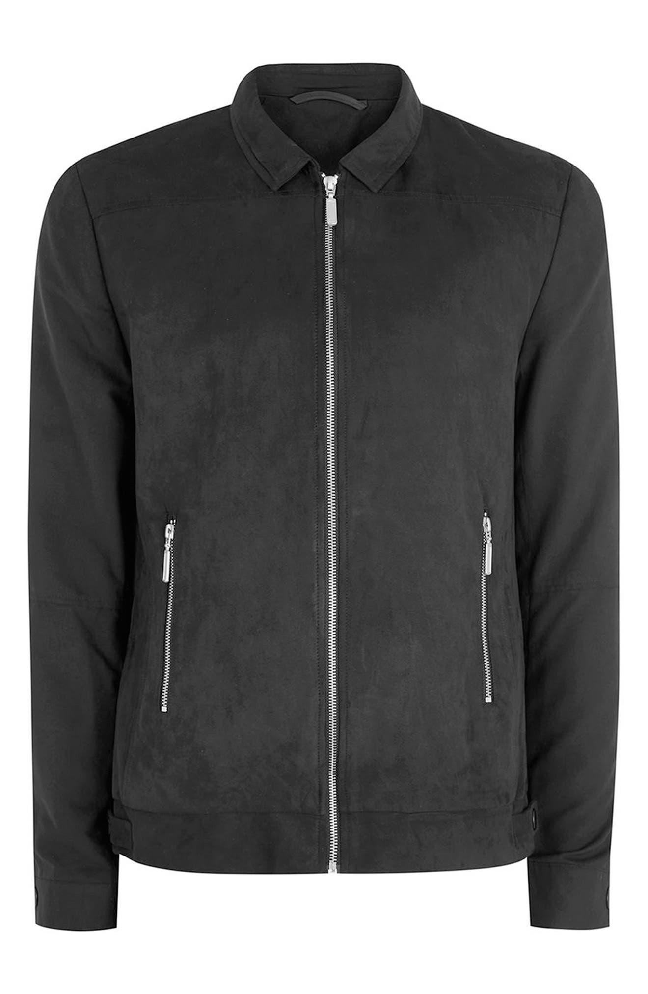 Alternate Image 4  - Topman Harrington Jacket
