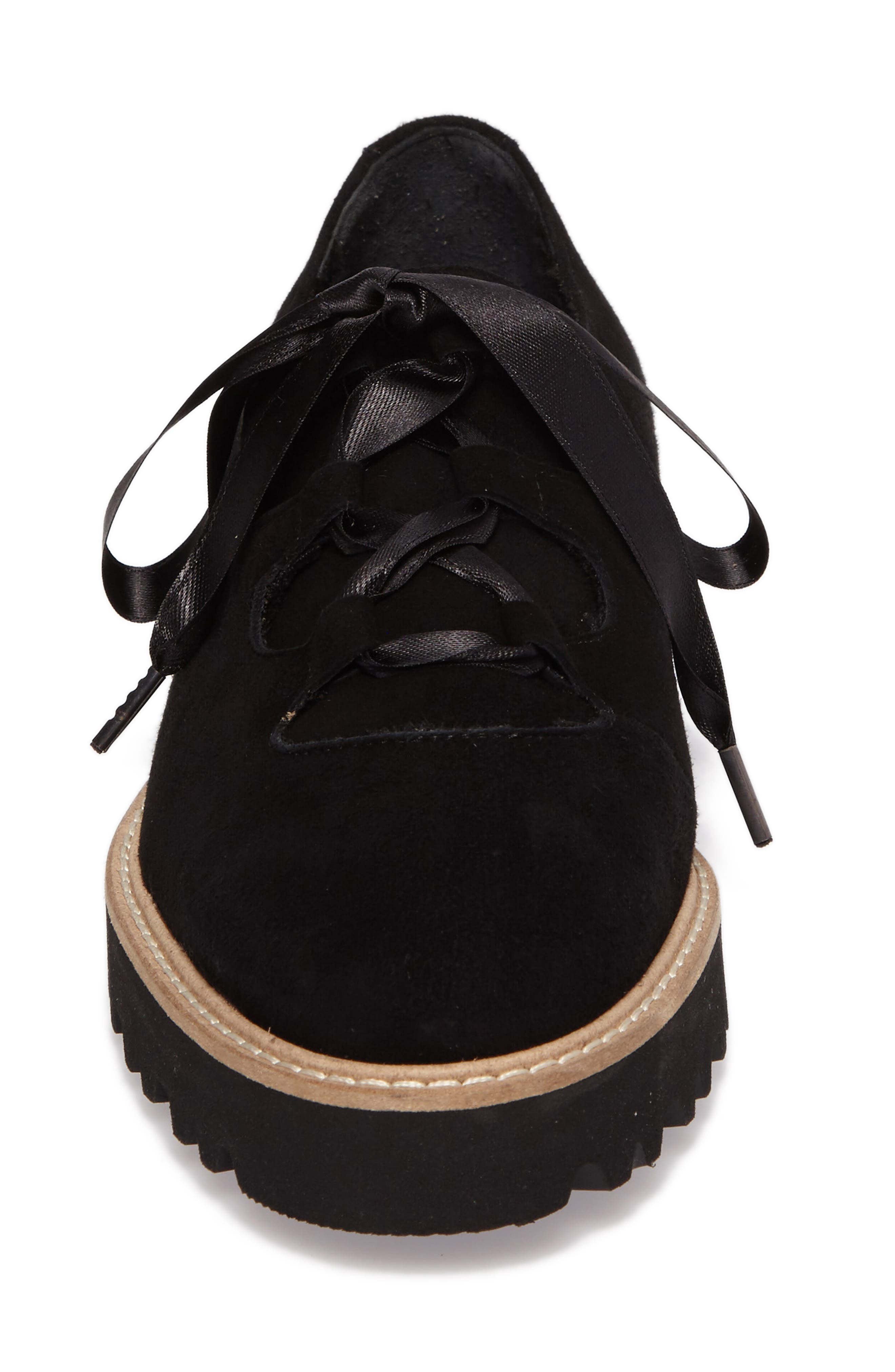 Daisy Water Resistant Oxford,                             Alternate thumbnail 4, color,                             Onyx Suede