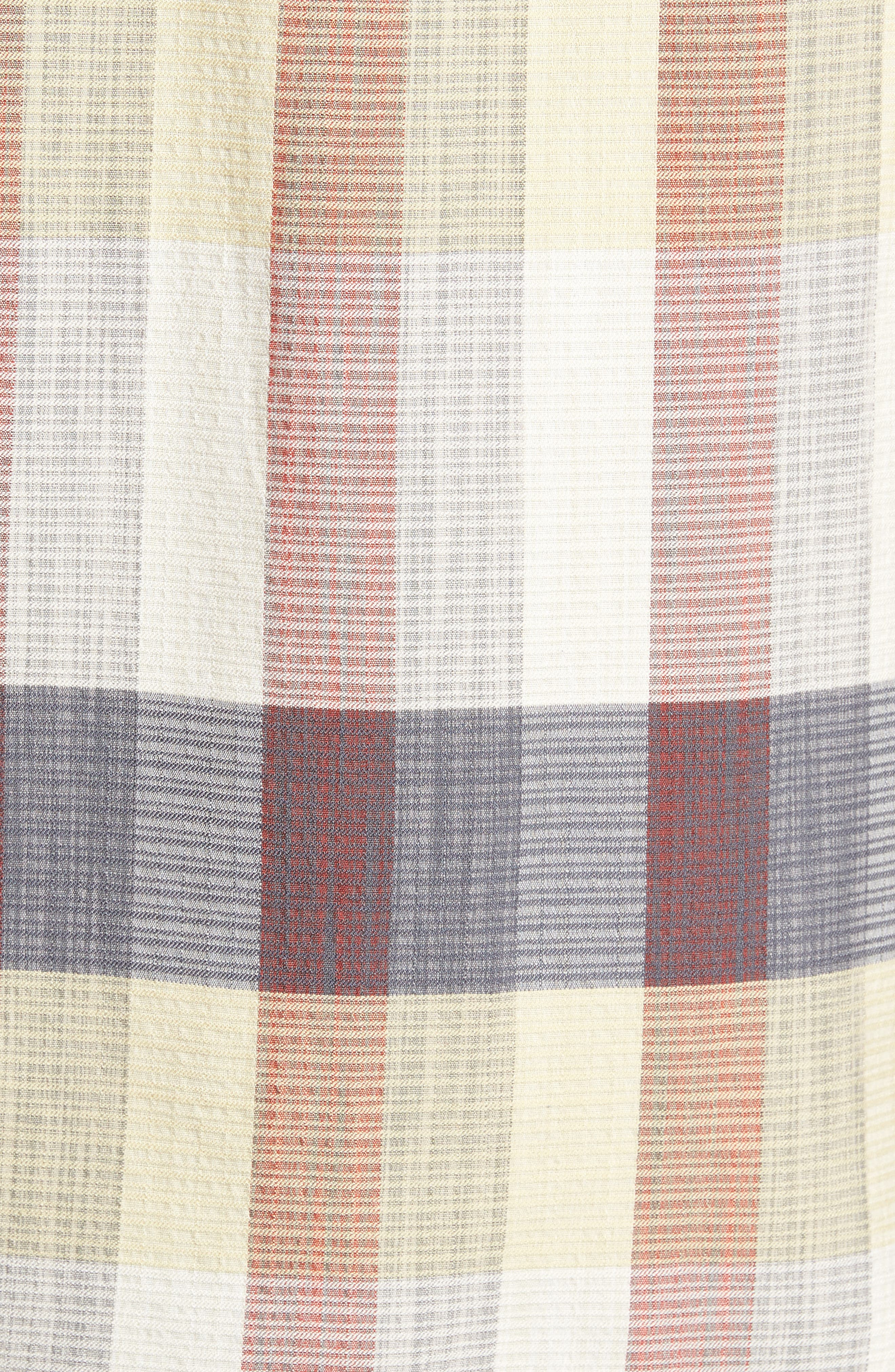 Tamuda Bay Plaid Silk Blend Camp Shirt,                             Alternate thumbnail 5, color,                             Twill